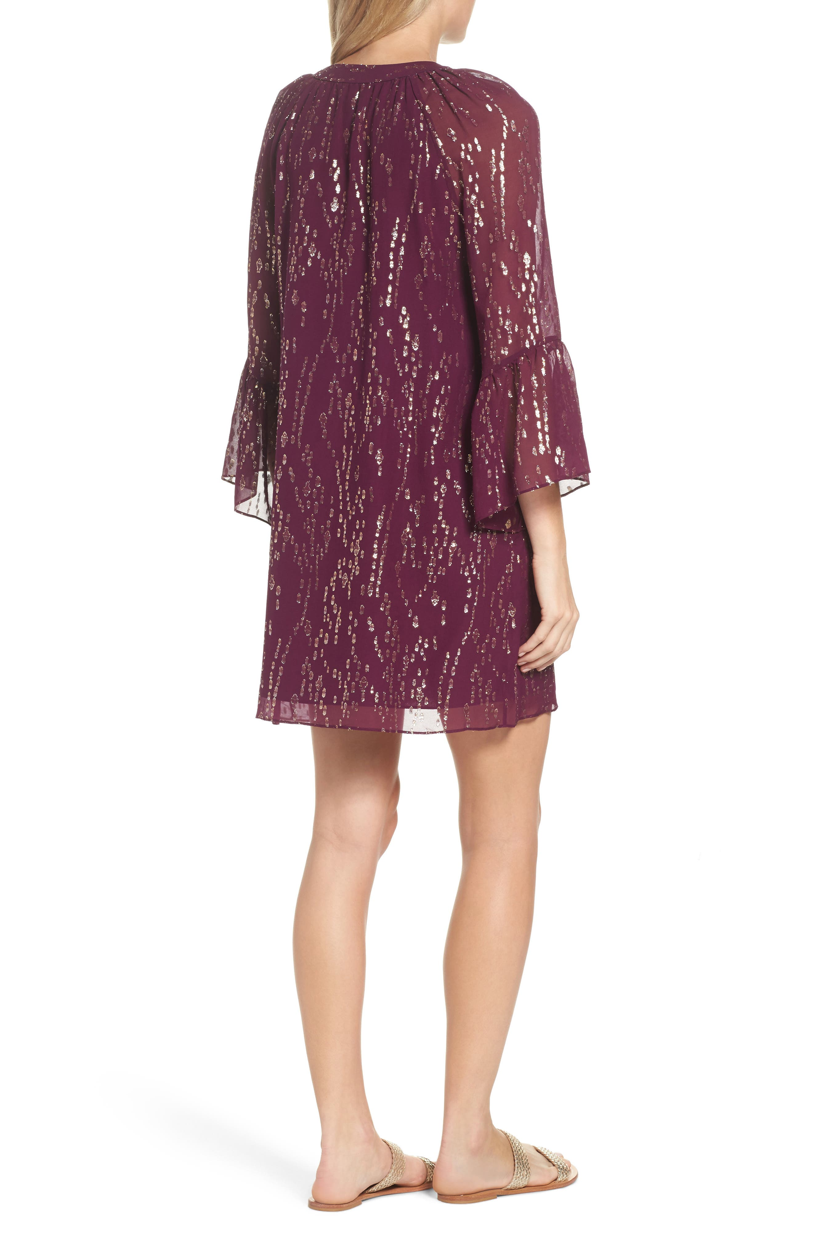 Matilda Tunic Dress,                             Alternate thumbnail 2, color,                             Shiraz