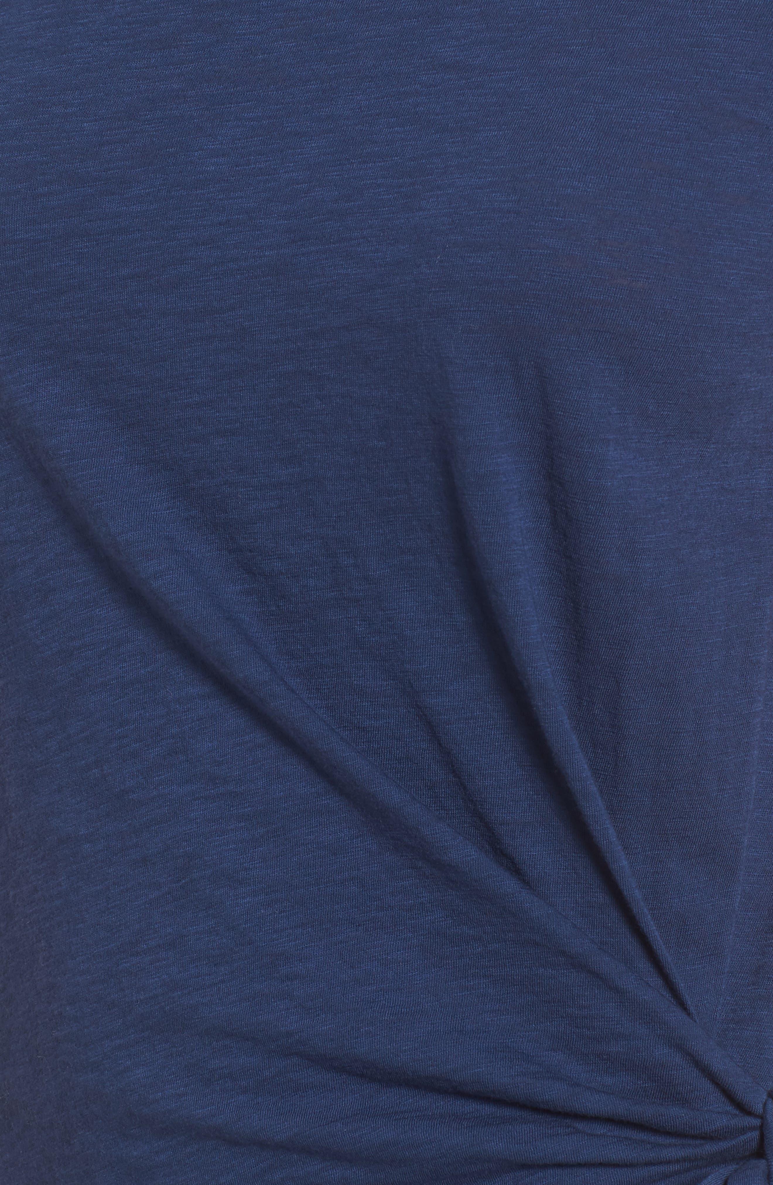 Cotton Slub Tie Waist Dress,                             Alternate thumbnail 5, color,                             Dutch