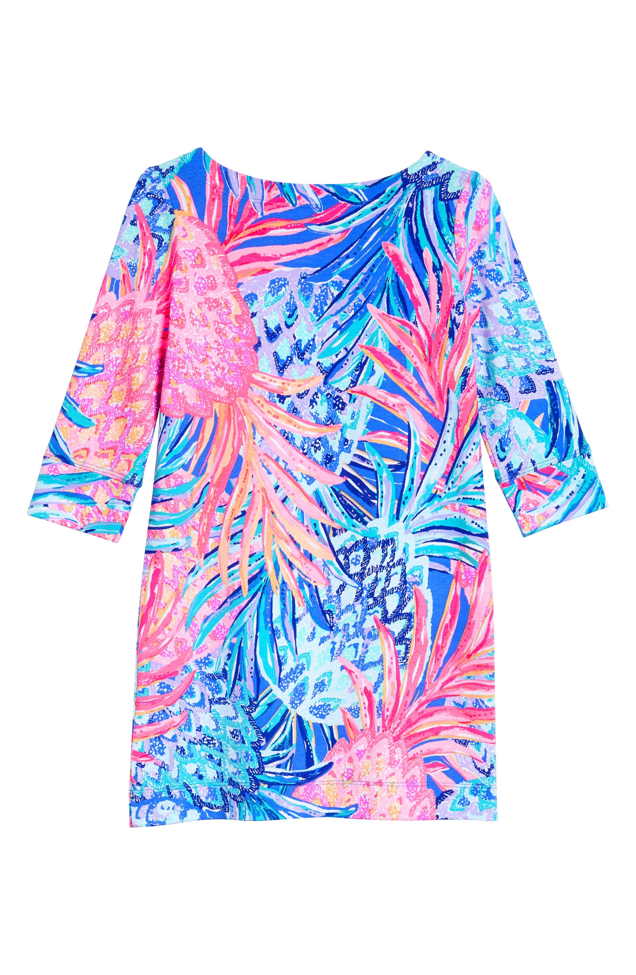 Mini Sophie UPF 50+ Dress,                             Alternate thumbnail 2, color,                             Multi Gypset Paradise