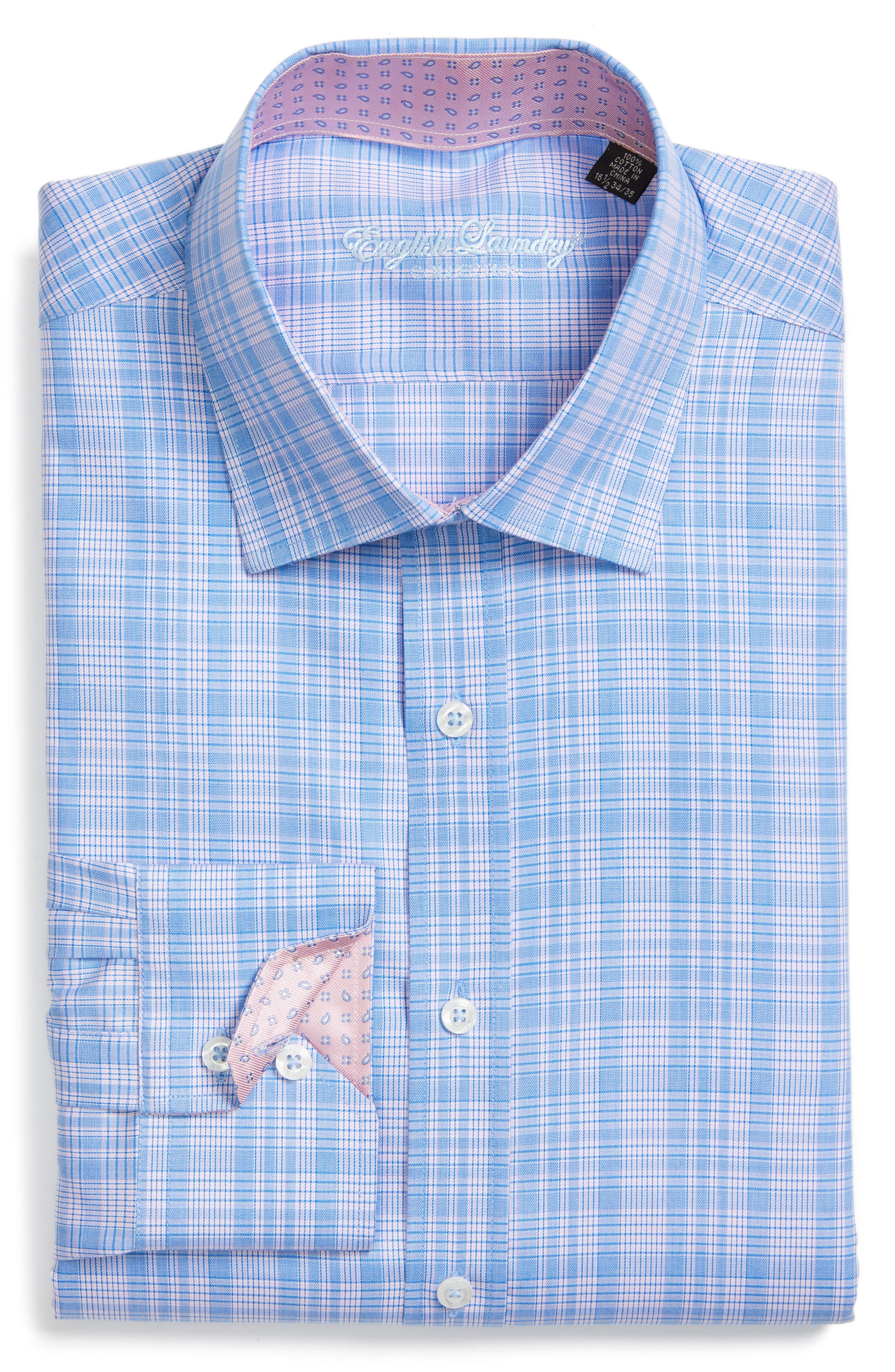Alternate Image 1 Selected - English Laundry Trim Fit Plaid Dress Shirt