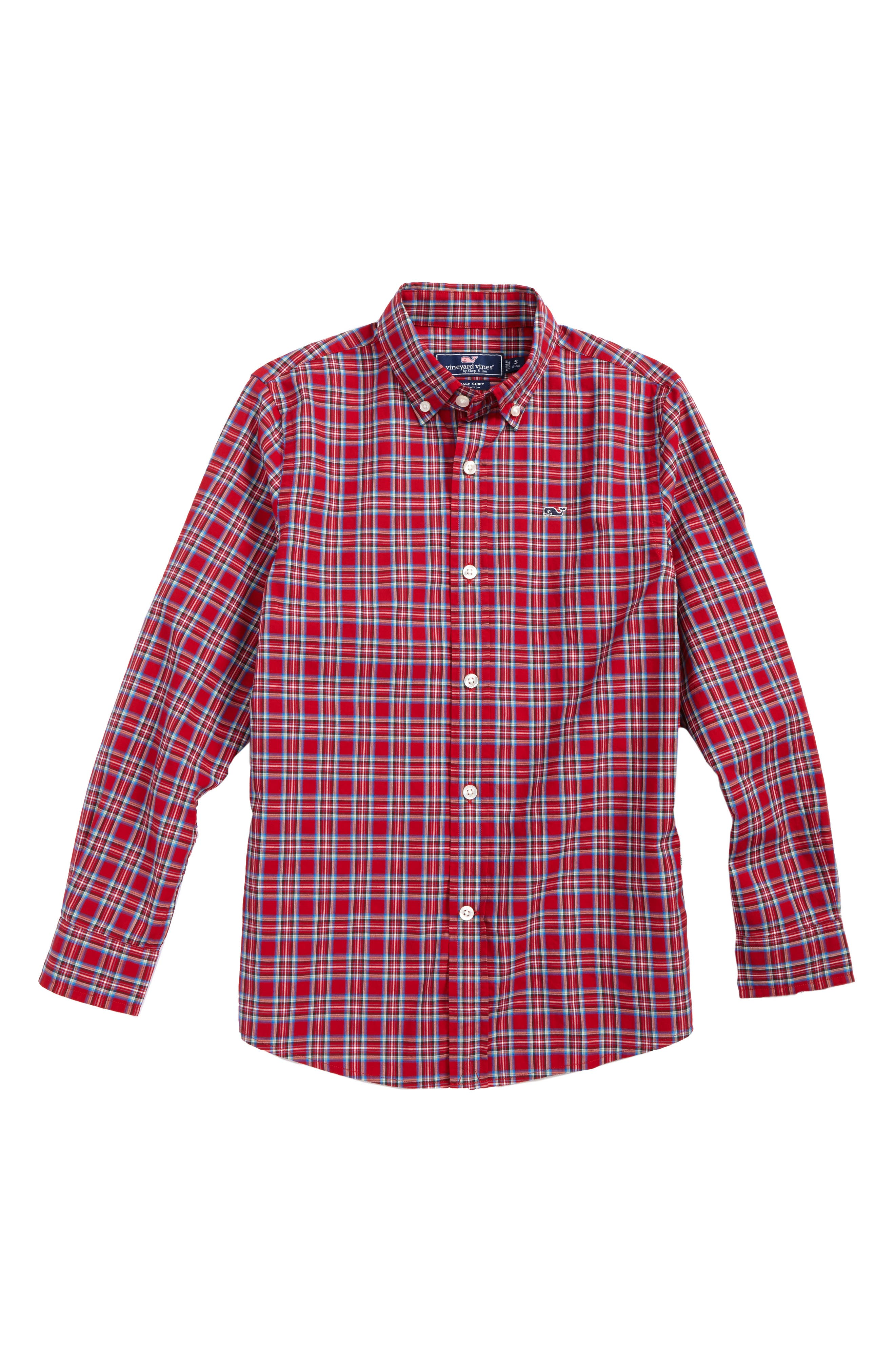 vineyard vines Riverton Plaid Whale Shirt (Big Boys)