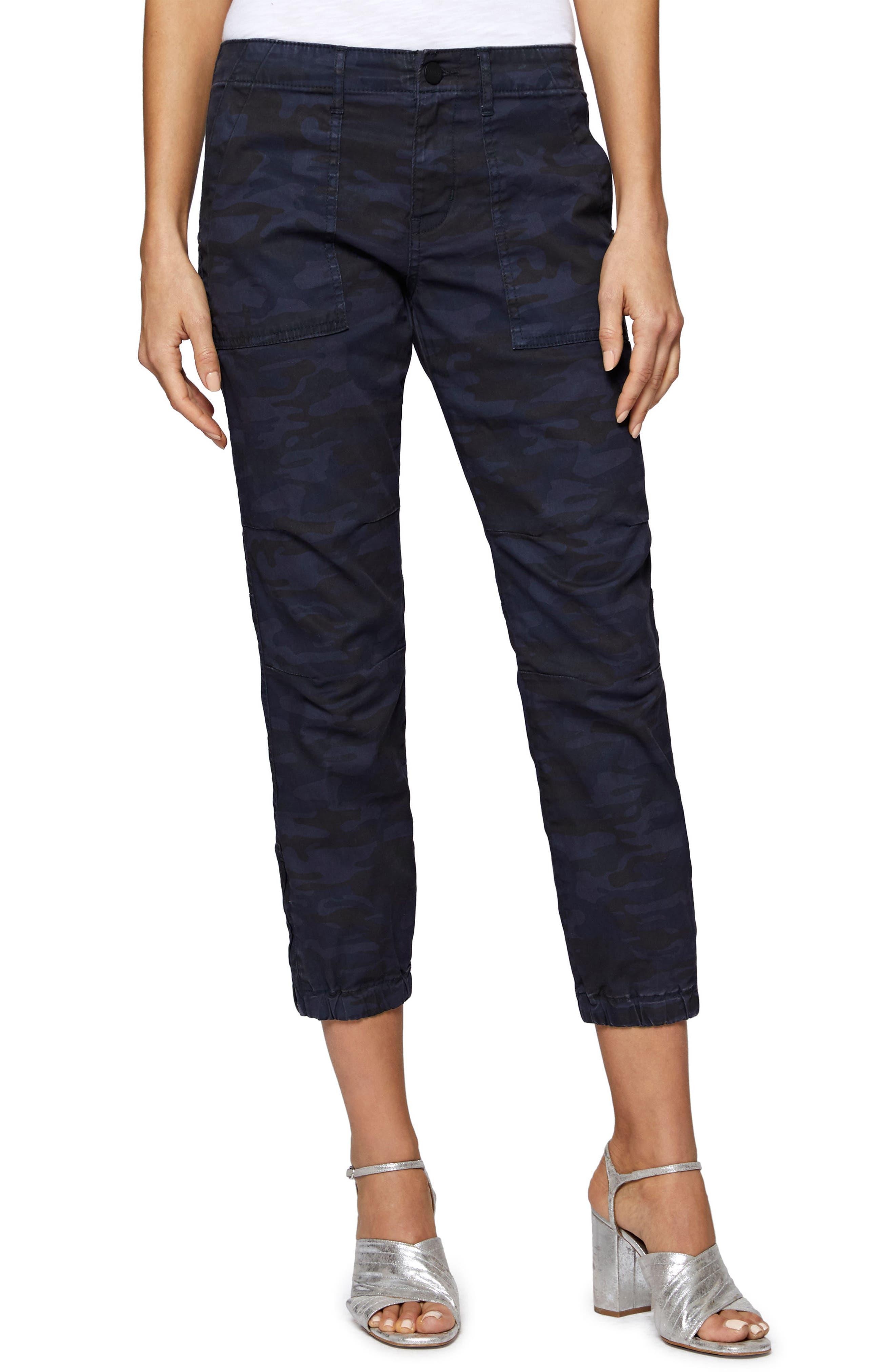 Peace Trooper Camo Crop Pants,                         Main,                         color, Heritage Navy Camo