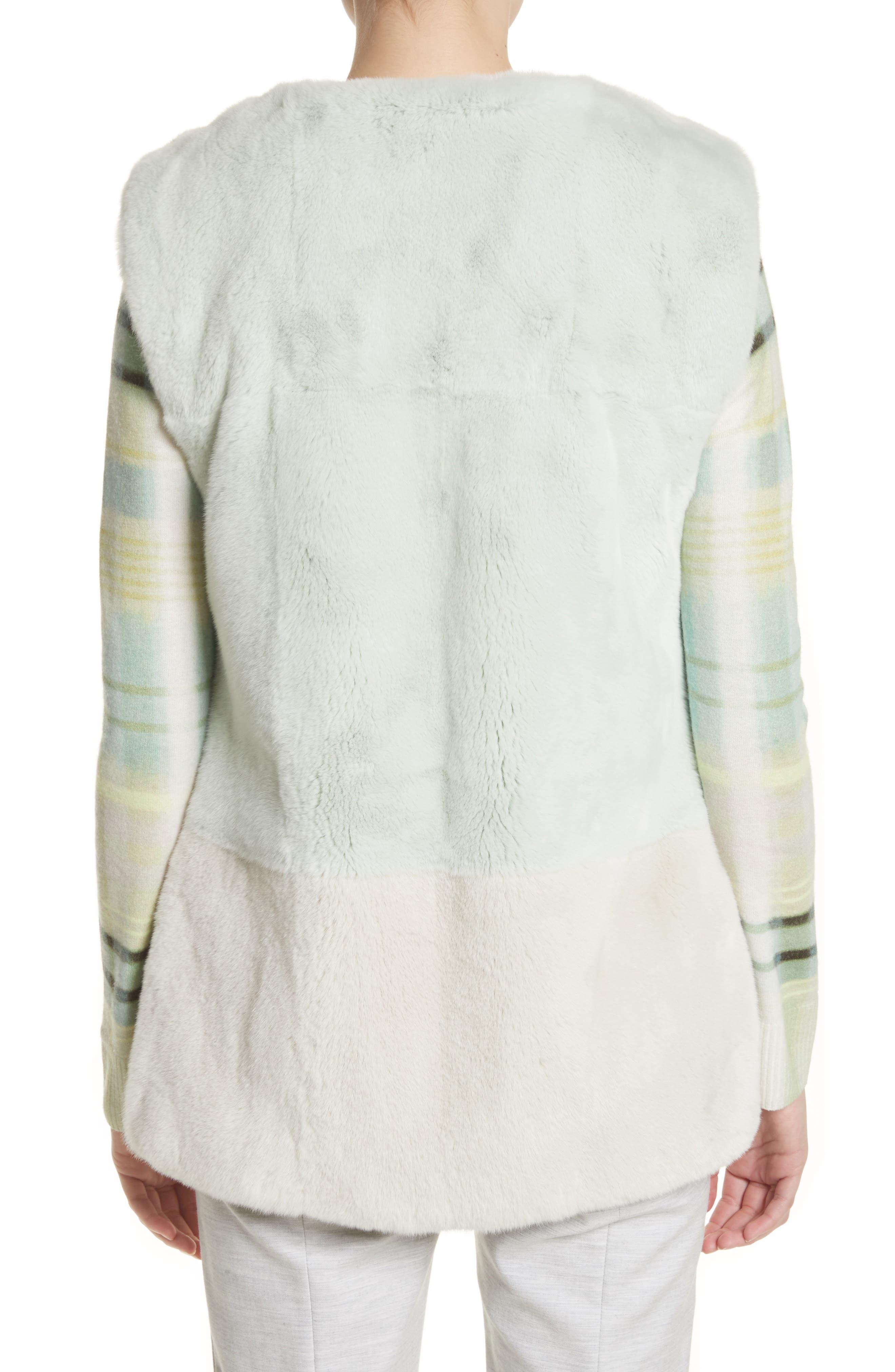 Alternate Image 2  - St. John Collection Genuine Rabbit Fur Intarsia Vest