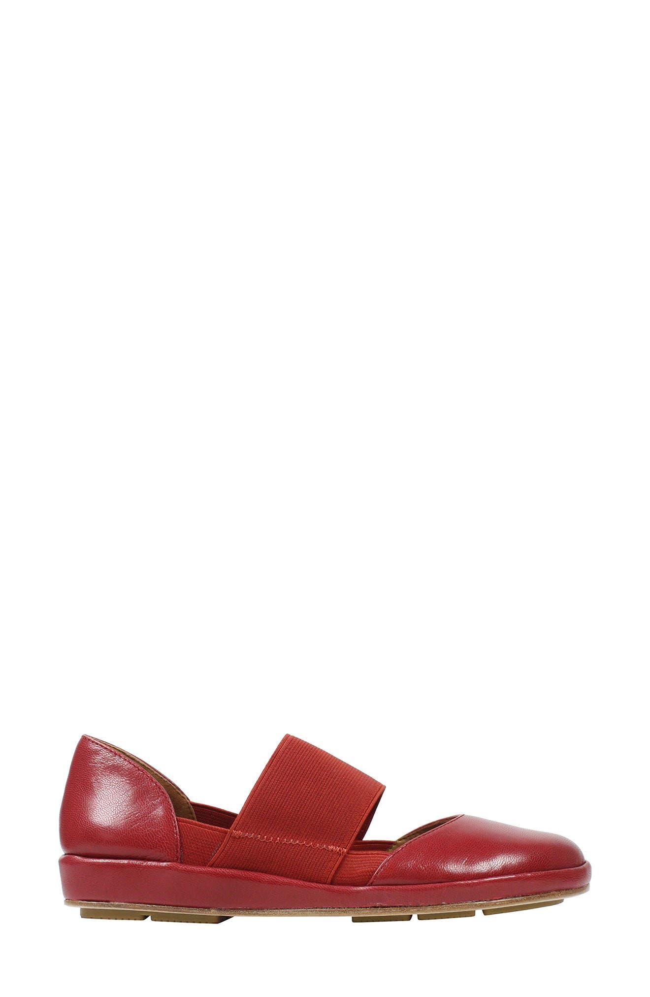 Camile Wedge Pump,                             Alternate thumbnail 3, color,                             Claret Leather