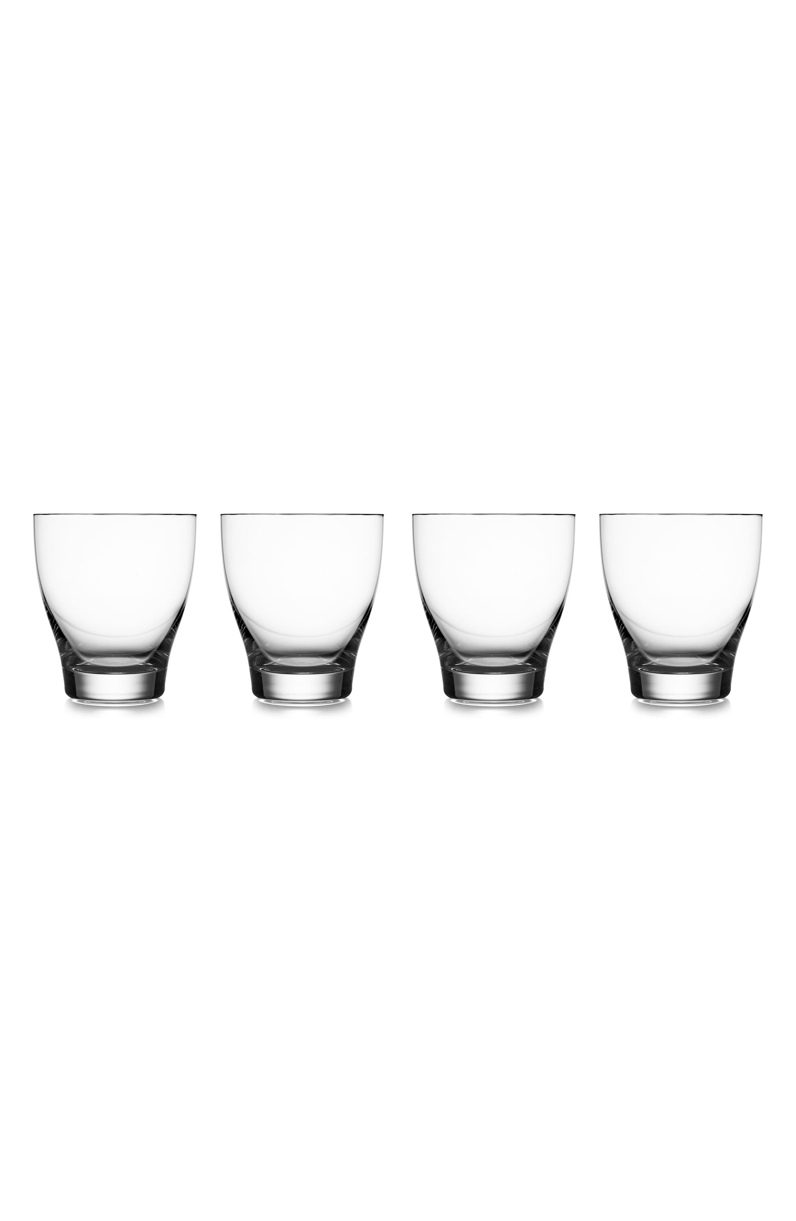 Vie Set of 4 Double Old Fashioned Glasses,                         Main,                         color, Clear
