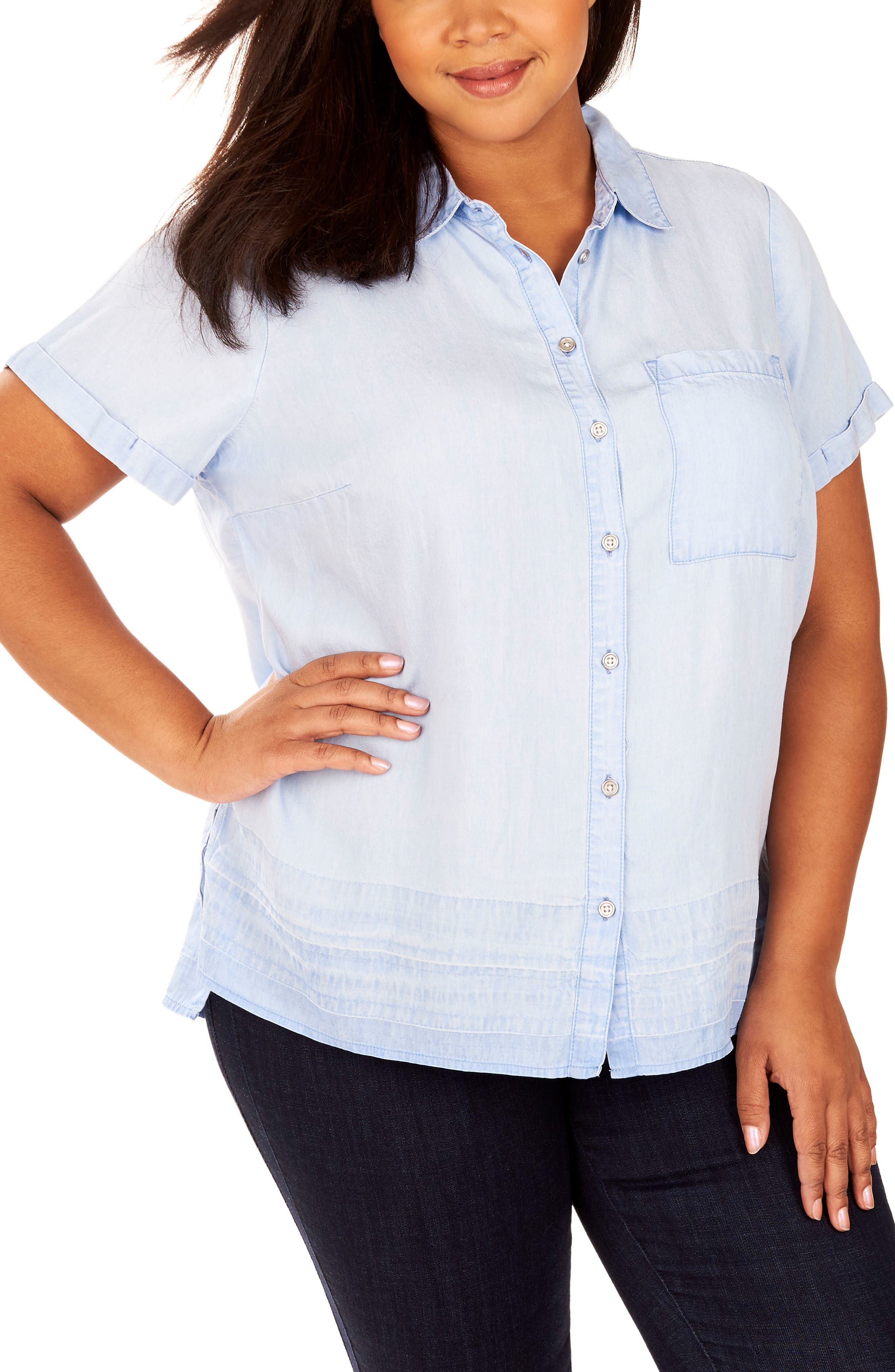 Rebel Wilson x Angels Button Up Collar Shirt (Plus Size)