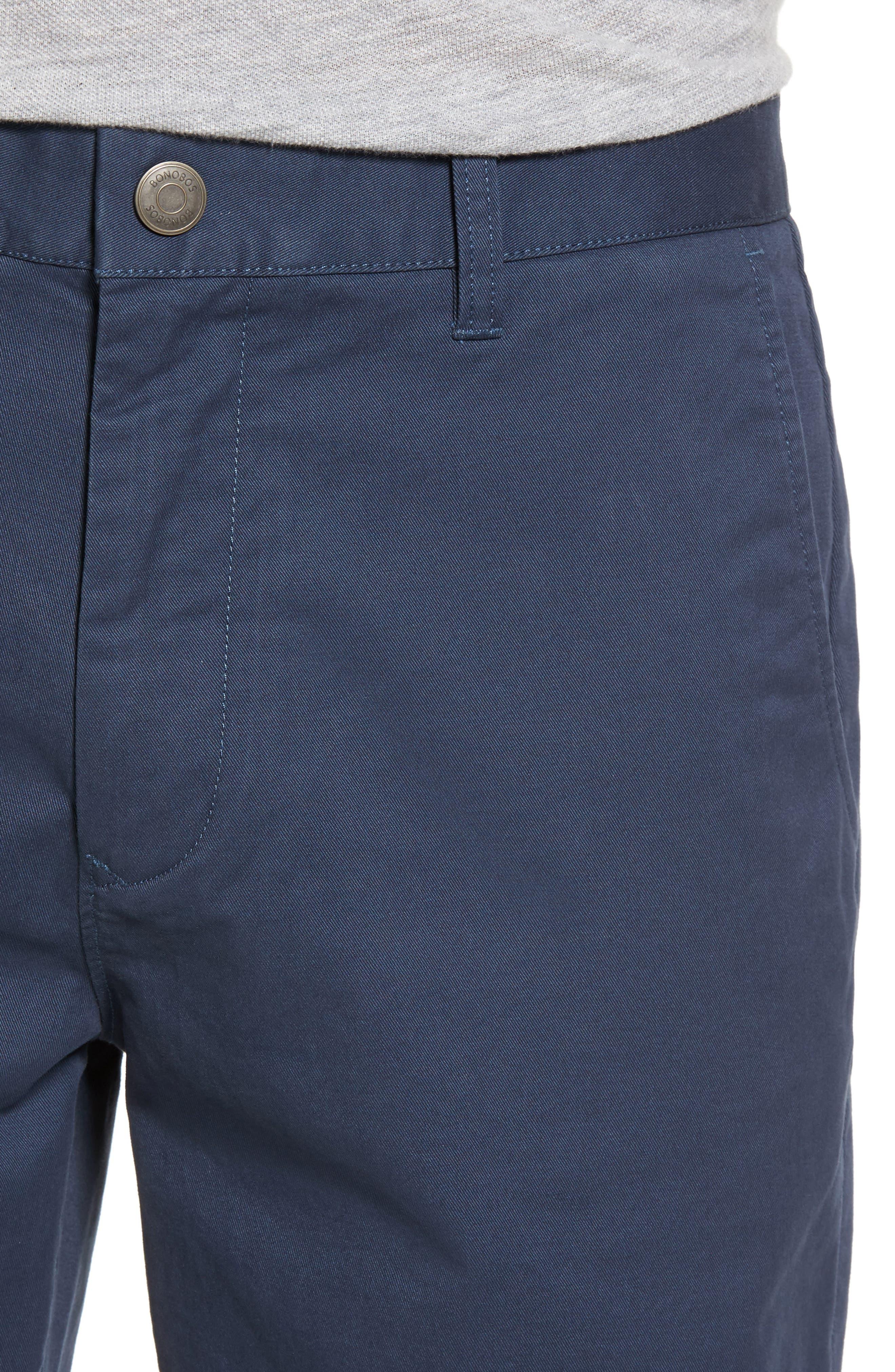 Alternate Image 4  - Bonobos Stretch Washed Chino 9-Inch Shorts