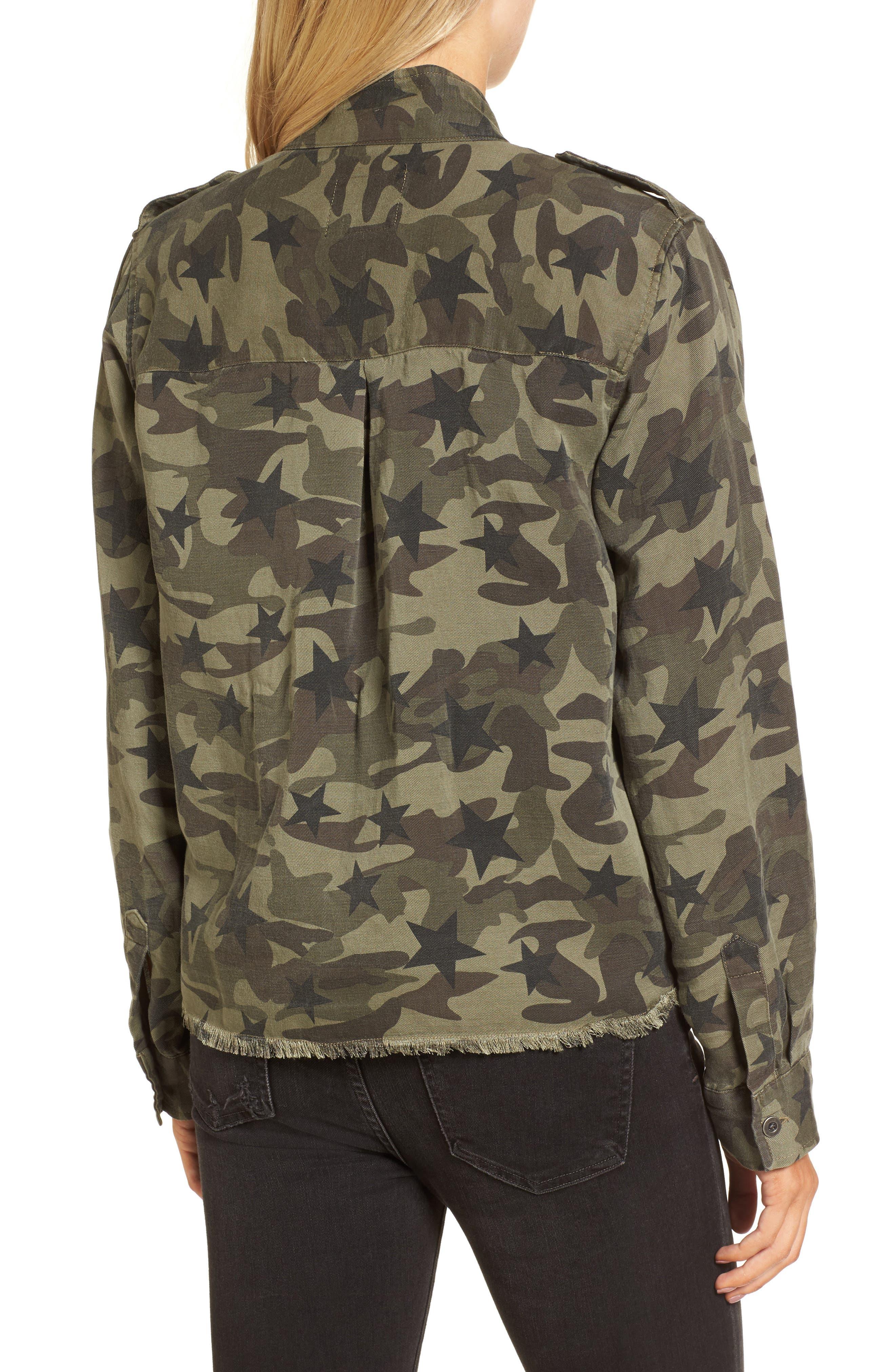 Hendrick Camo Military Jacket,                             Alternate thumbnail 2, color,                             Star Camo
