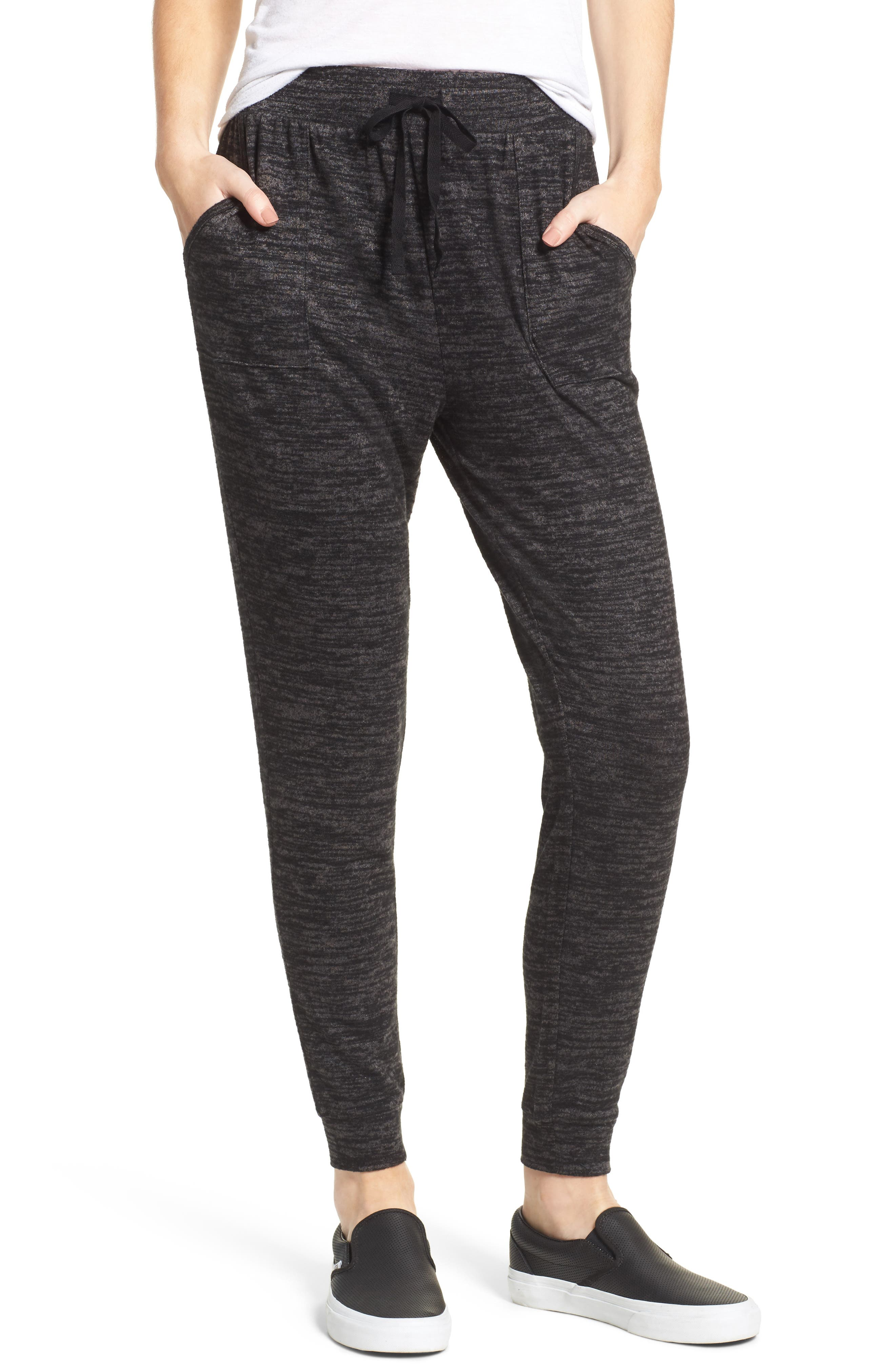 Stretch Knit Joggers,                         Main,                         color, Black