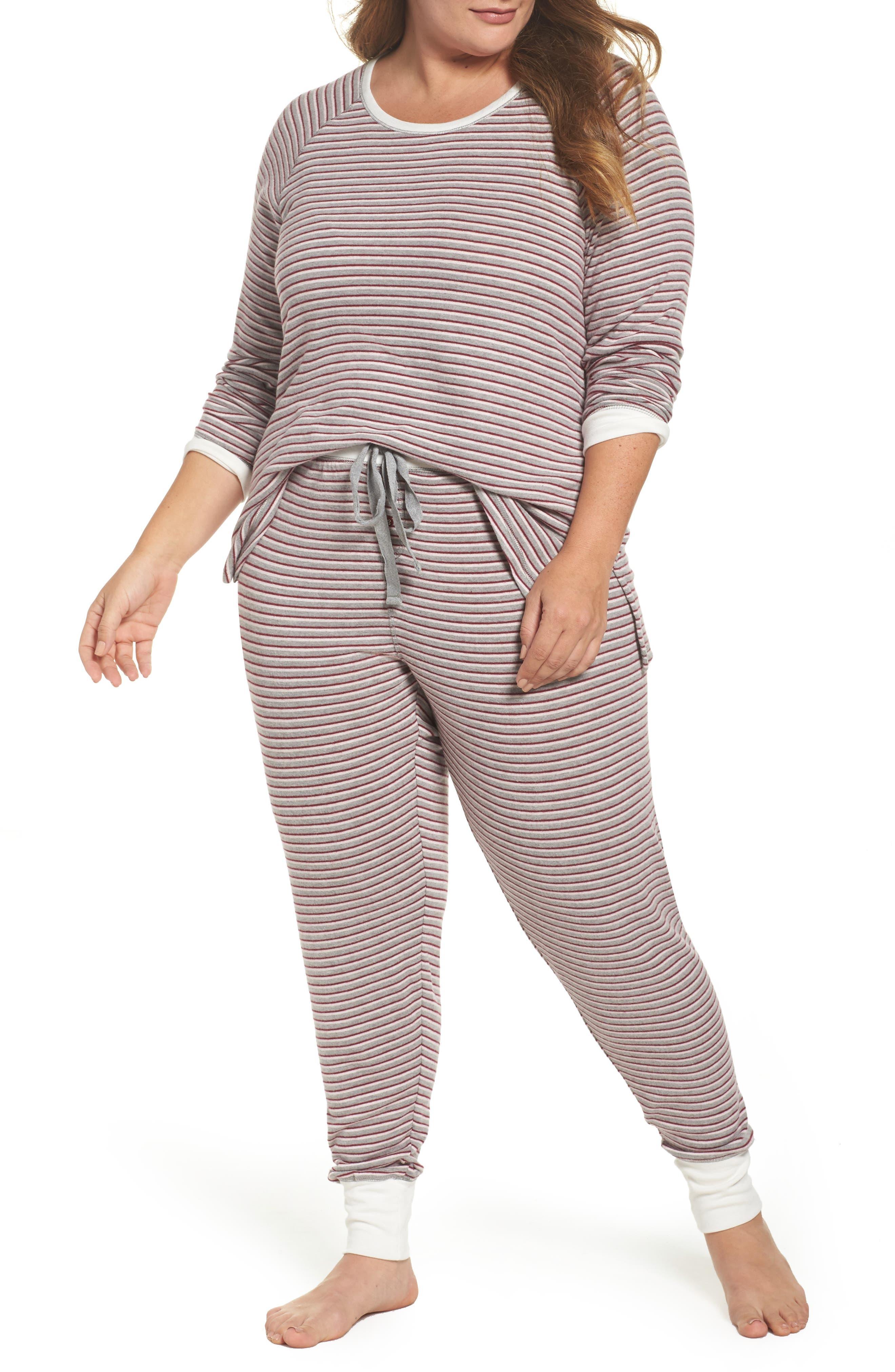PJ Salvage Peachy Thermal Pajamas (Plus Size)