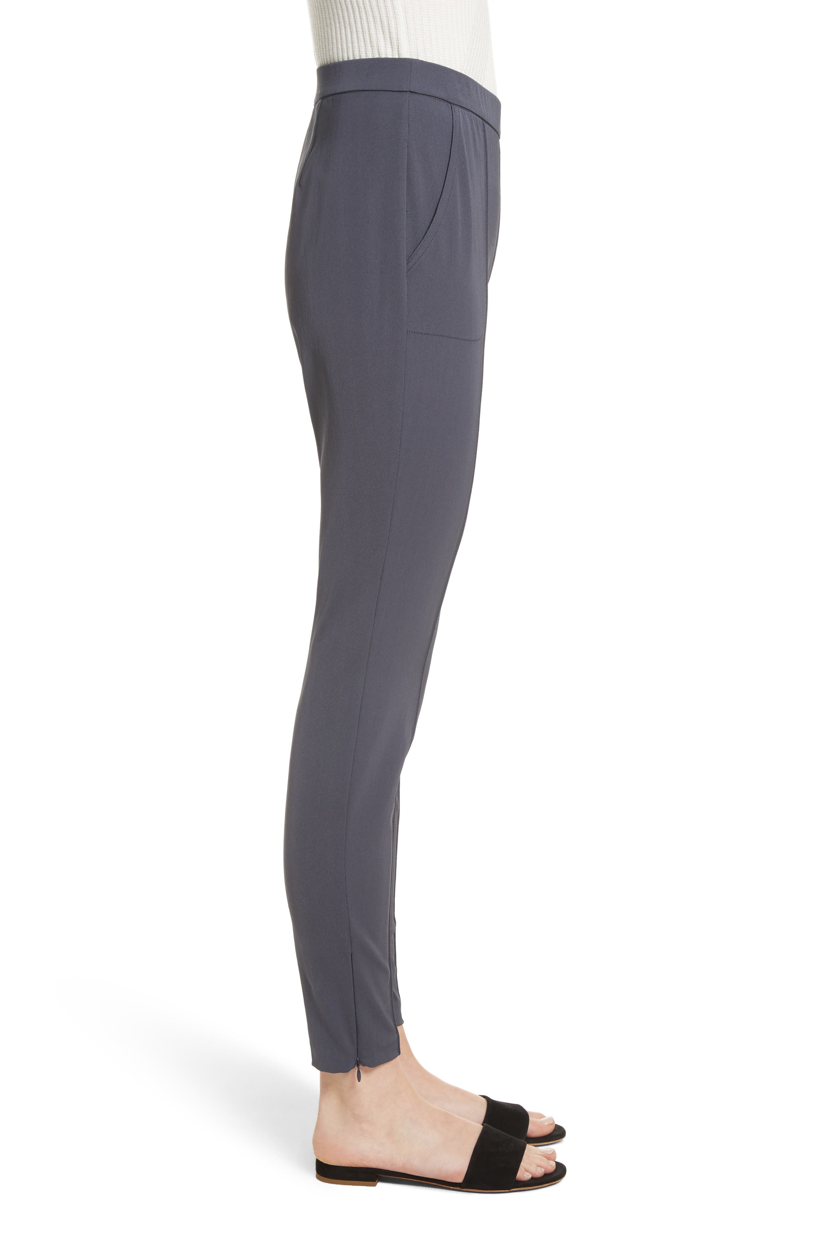 Stretch Tech Twill Pants,                             Alternate thumbnail 3, color,                             Anthracite