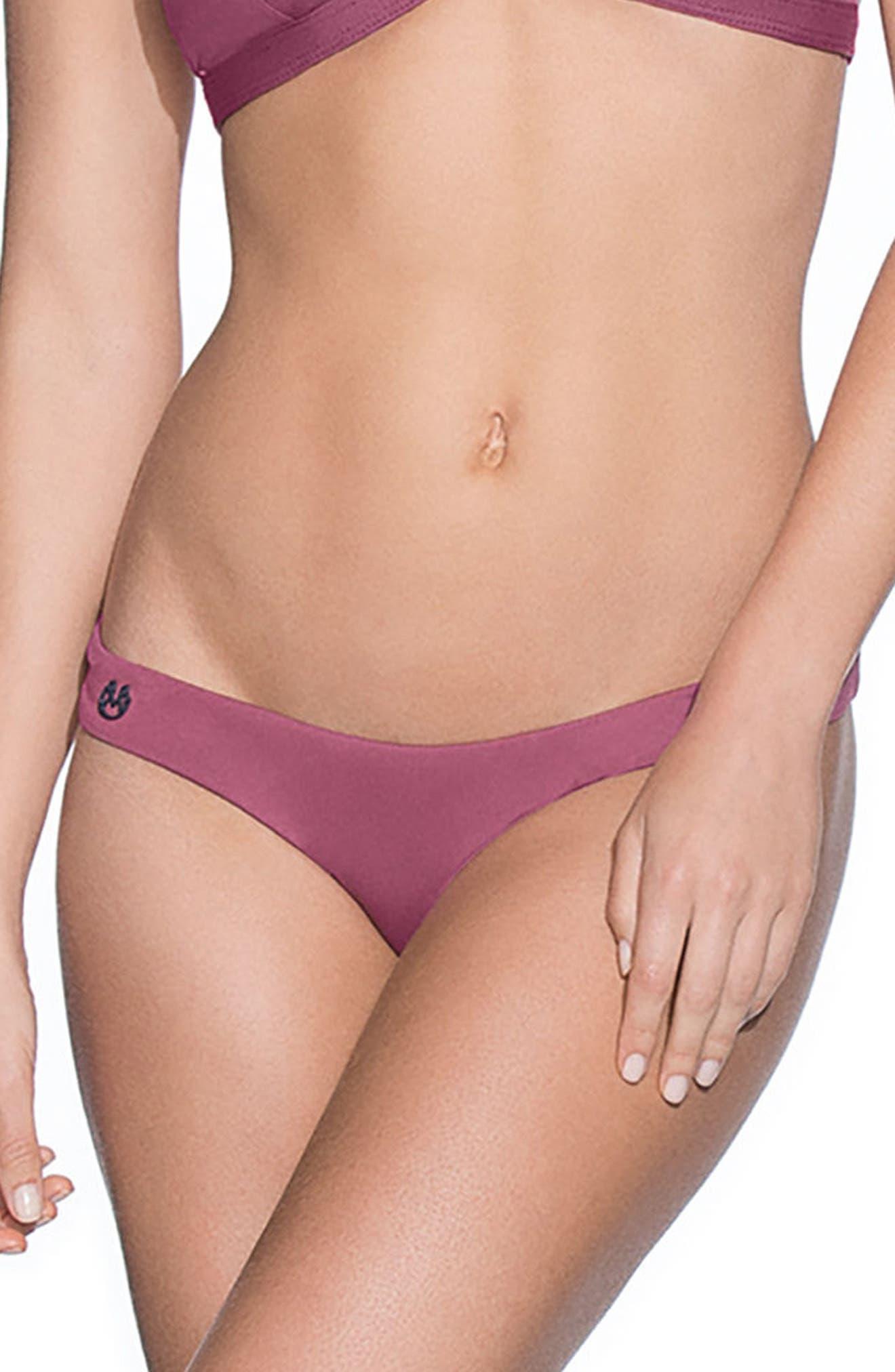 Juneberry Flirt Reversible Bikini Bottoms,                             Main thumbnail 1, color,                             Juneberry