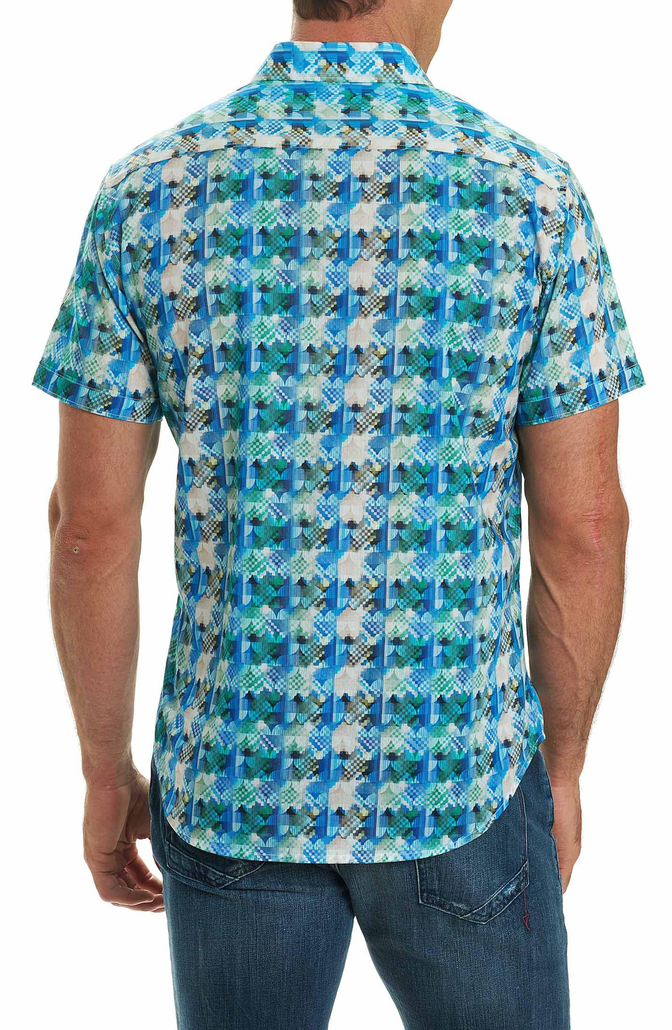 Illusions Sport Shirt,                             Alternate thumbnail 2, color,                             Turquoise