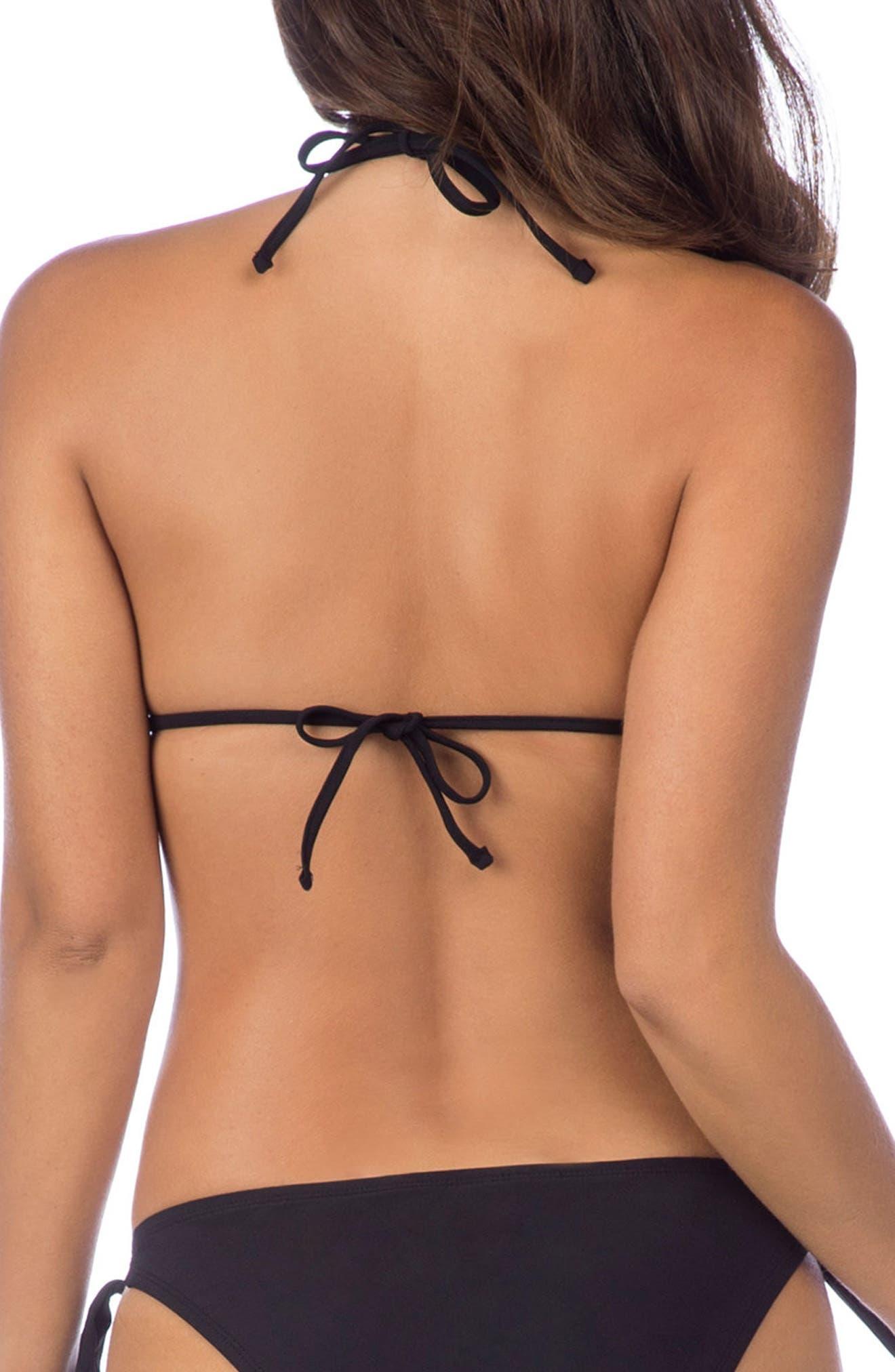 Alternate Image 2  - La Blanca Petal Pusher Solid Ruffle Triangle Bikini Top