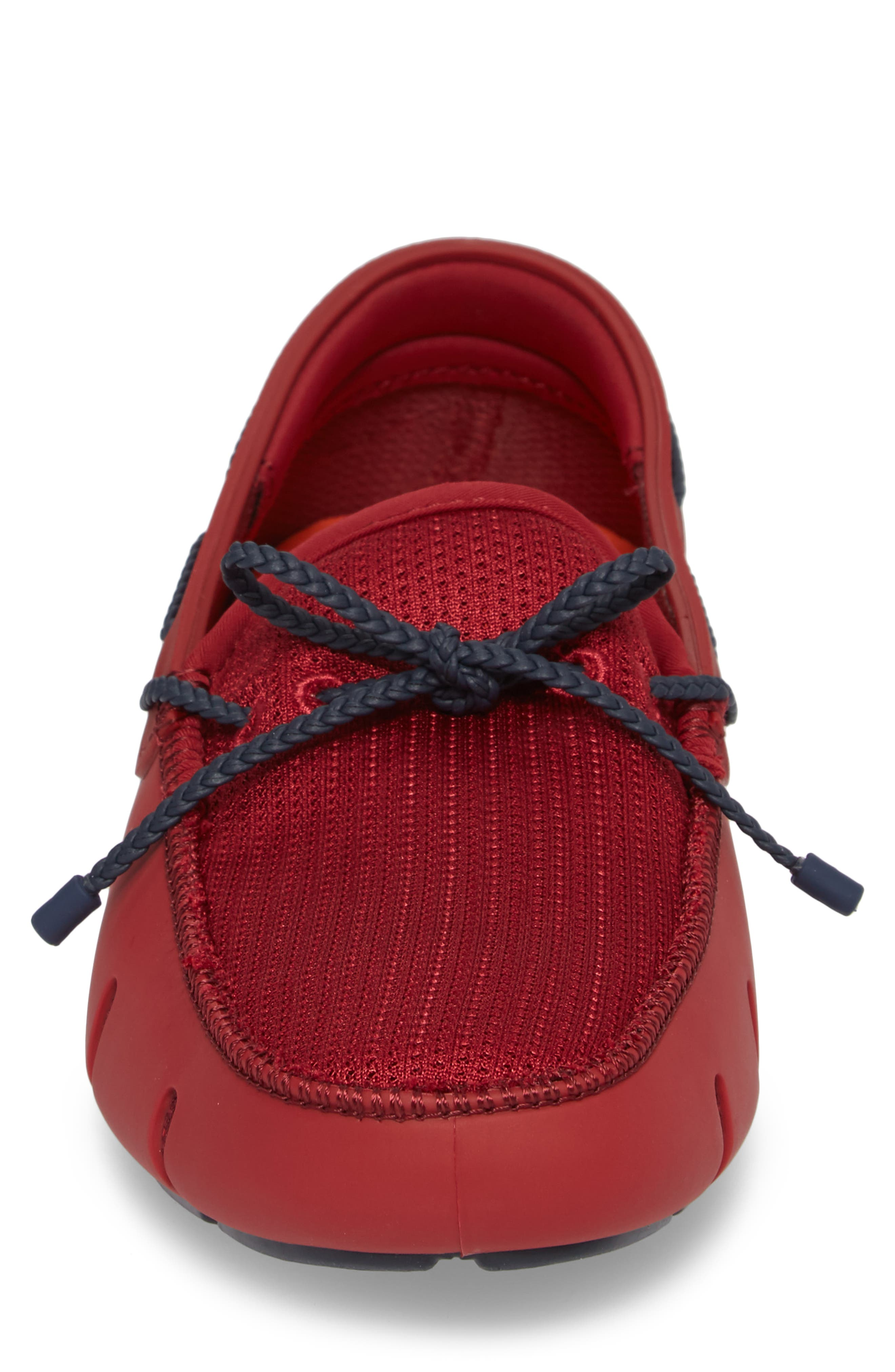 Loafer,                             Alternate thumbnail 4, color,                             Deep Red / Navy