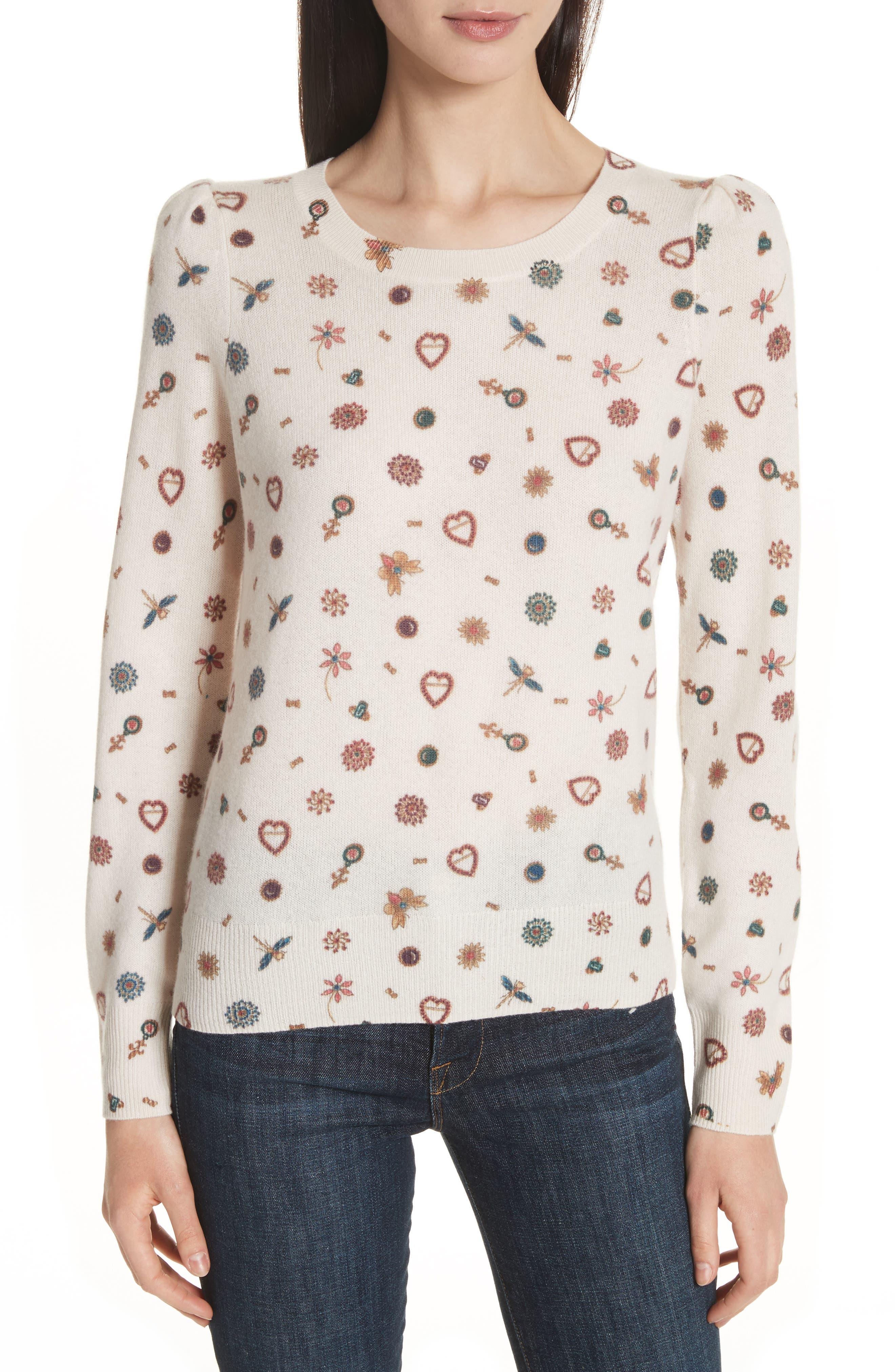 Joie Abilene Print Cashmere Sweater