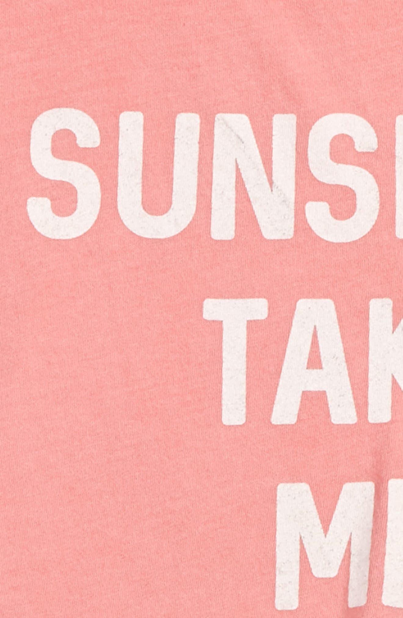 Sunshine Take Me Home Graphic Tee,                             Alternate thumbnail 2, color,                             Flamingo