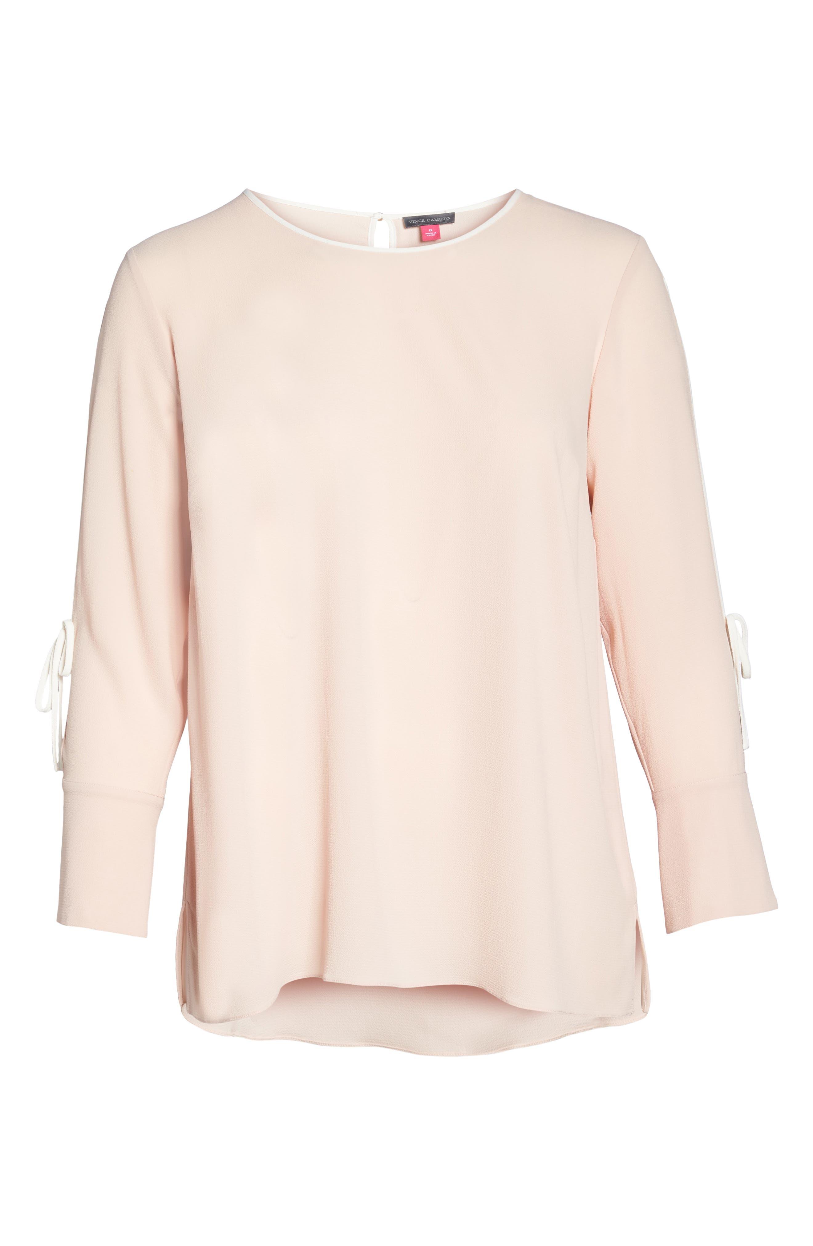Alternate Image 6  - Vince Camuto Bell Cuff Split Sleeve Shirt (Plus Size)