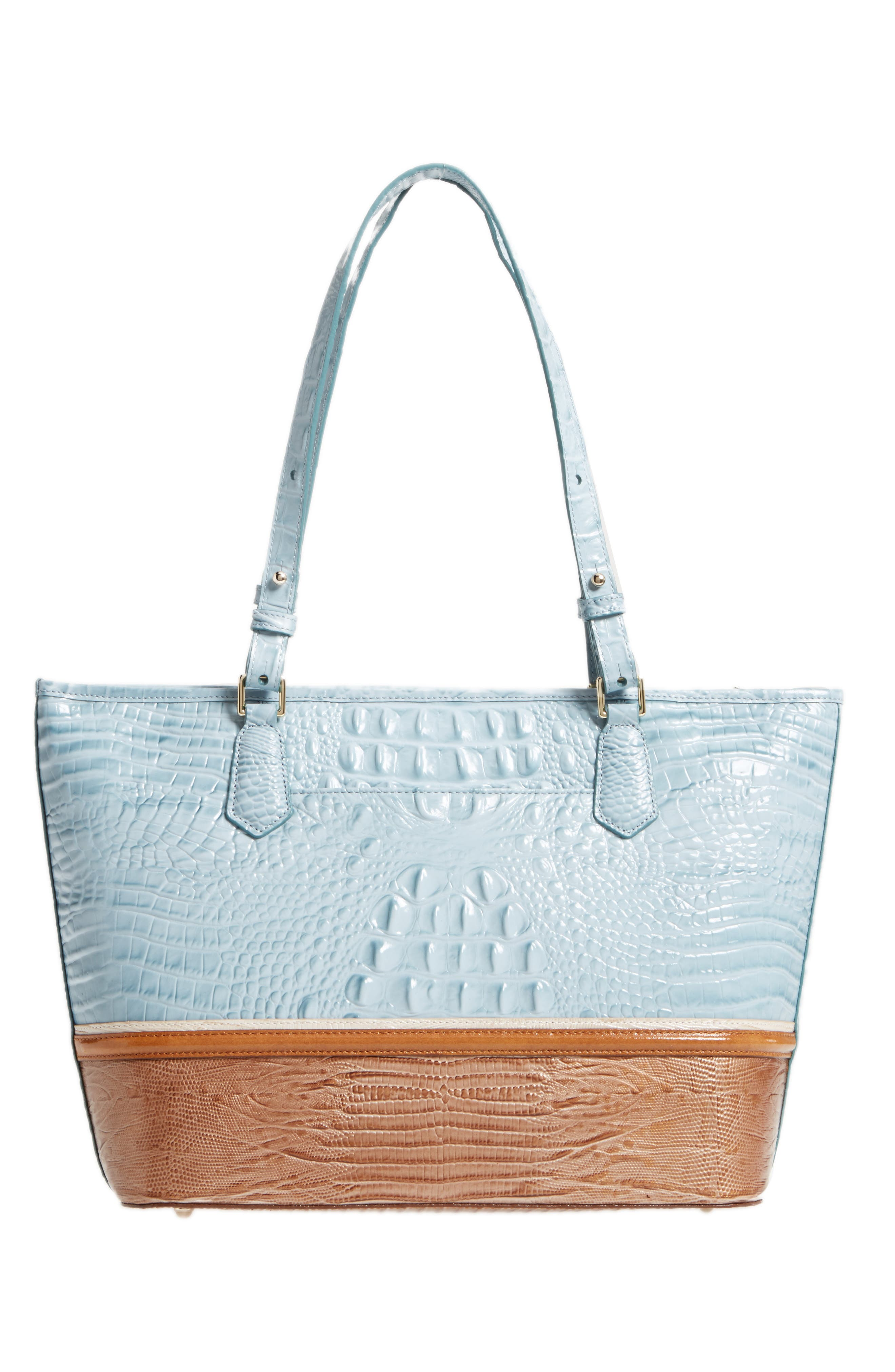Medium Asher Leather Tote,                             Alternate thumbnail 3, color,                             Sky