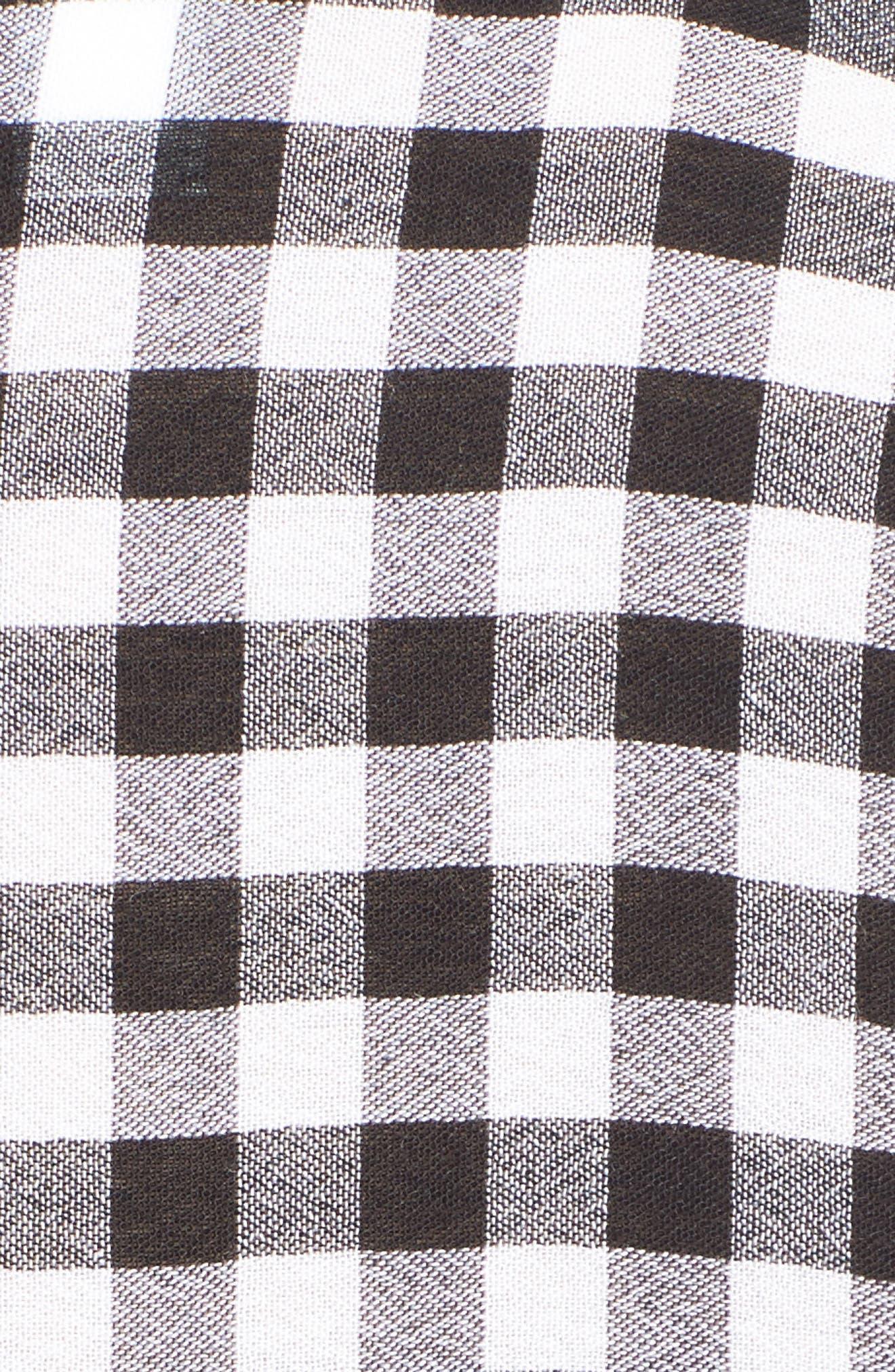 The Perfect Shirt,                             Alternate thumbnail 5, color,                             Black Annete Check