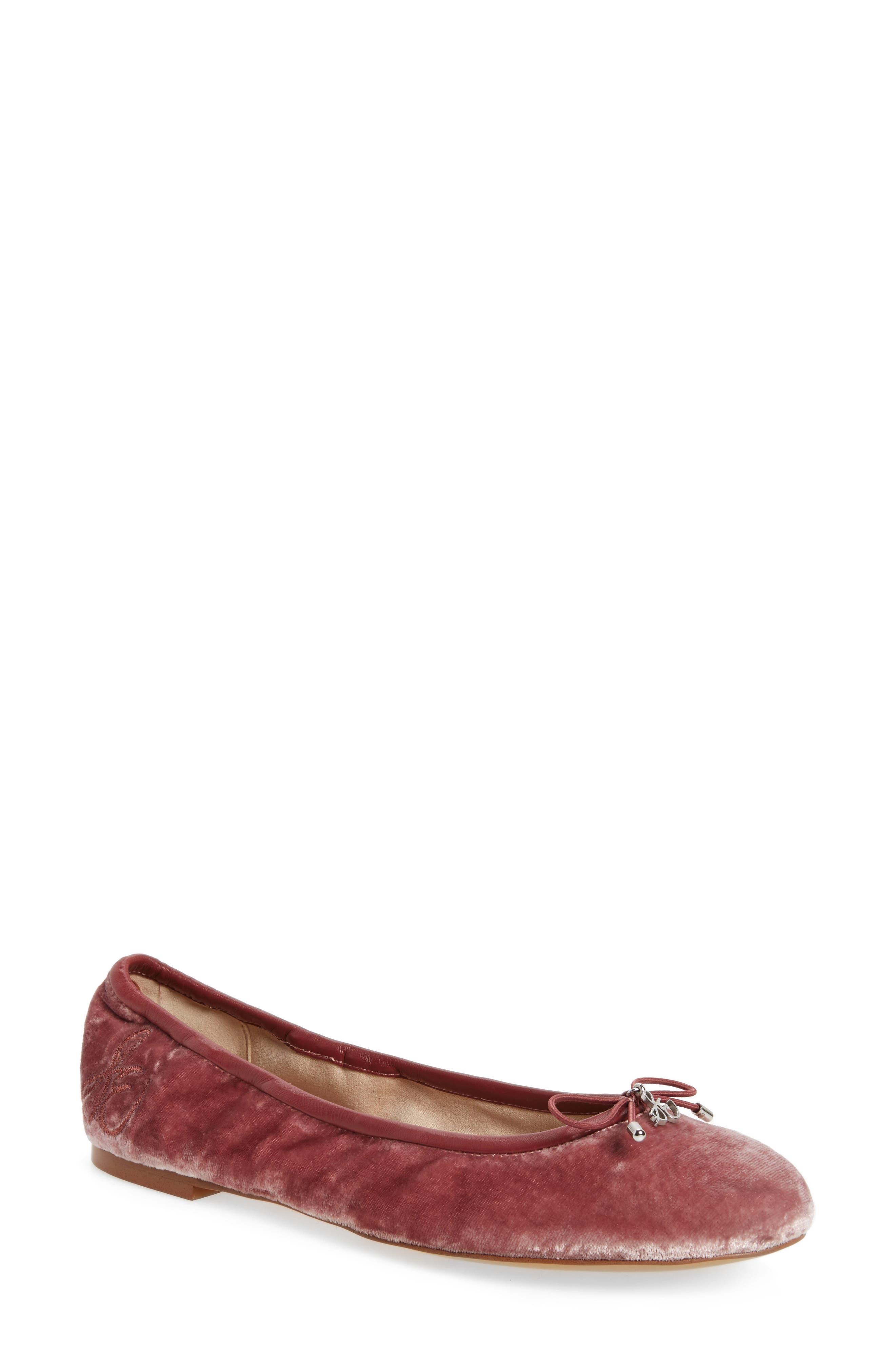 'Felicia' Flat,                             Main thumbnail 1, color,                             Faded Rose