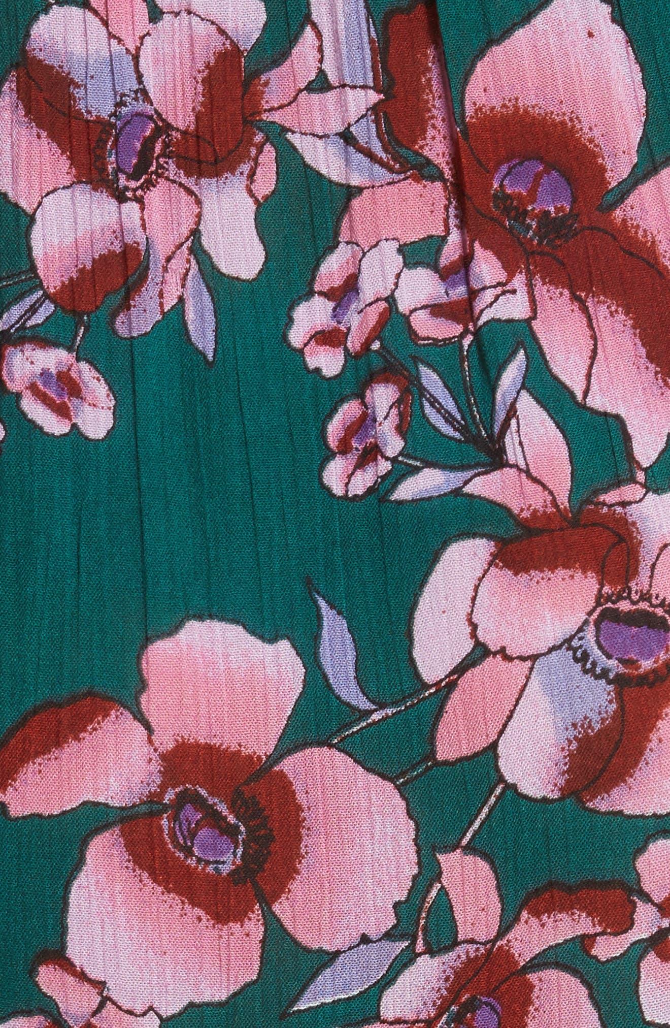 Garden Party Maxi Dress,                             Alternate thumbnail 5, color,                             Turquoise