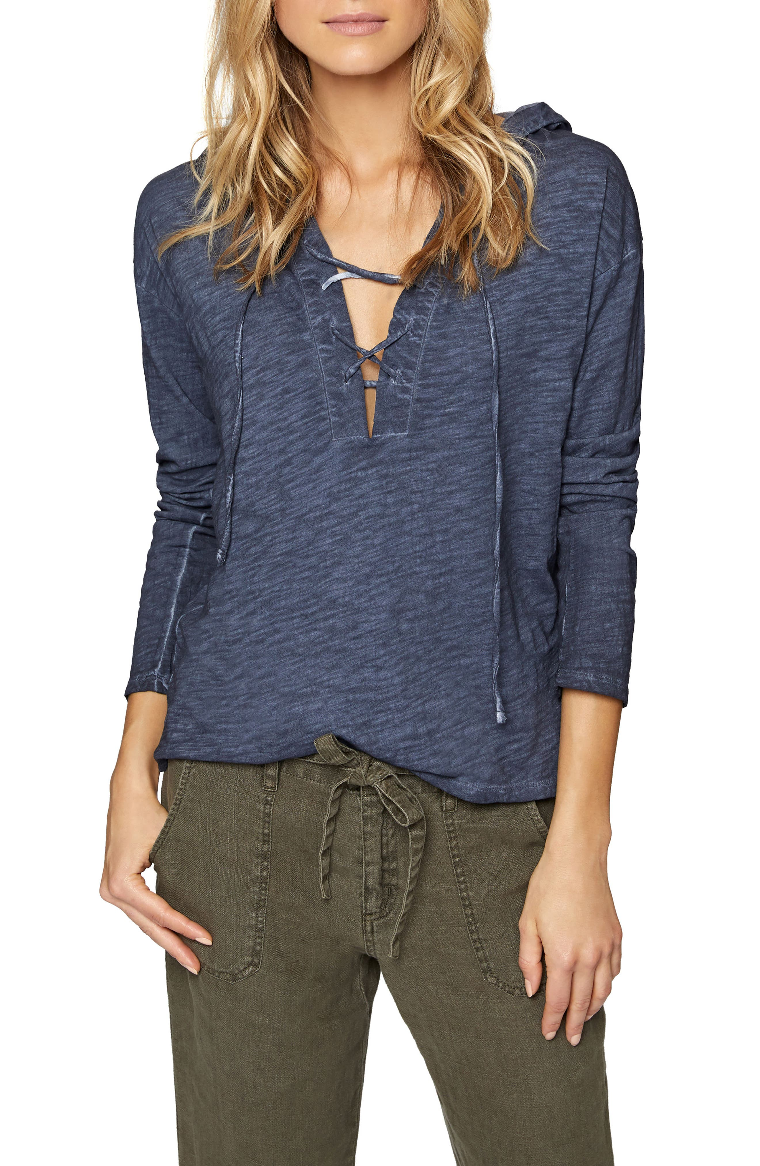Sanctuary Atwater Lace-Up Hoodie (Regular & Petite)