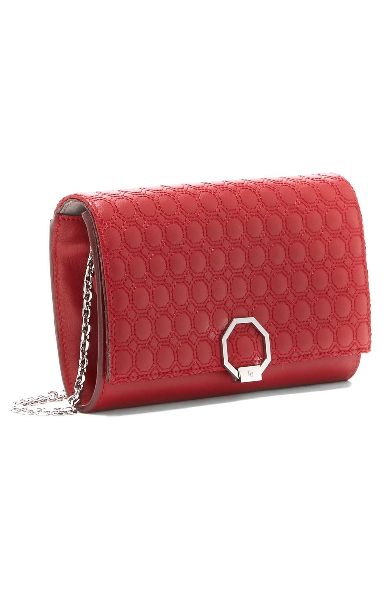 Celya Small Crossbody Bag,                             Alternate thumbnail 2, color,                             Cherry Red