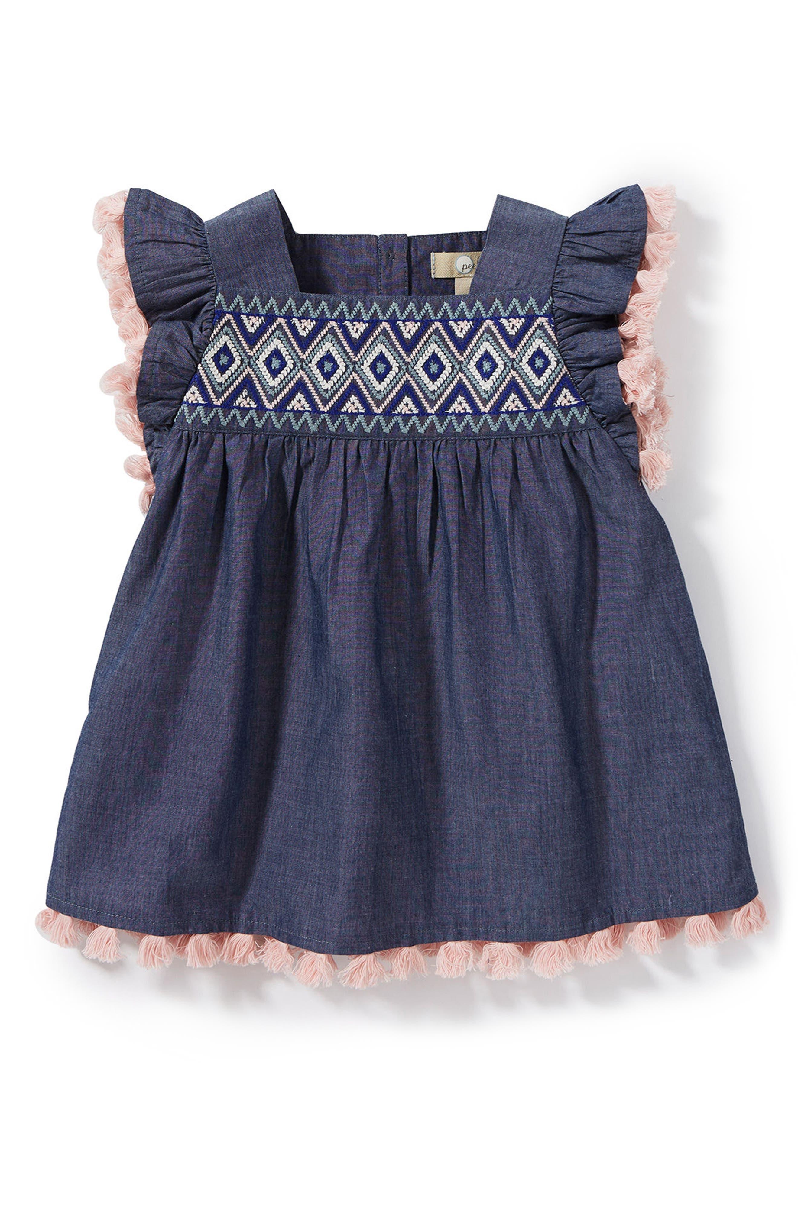 Sophia Dress,                             Main thumbnail 1, color,                             Chambray