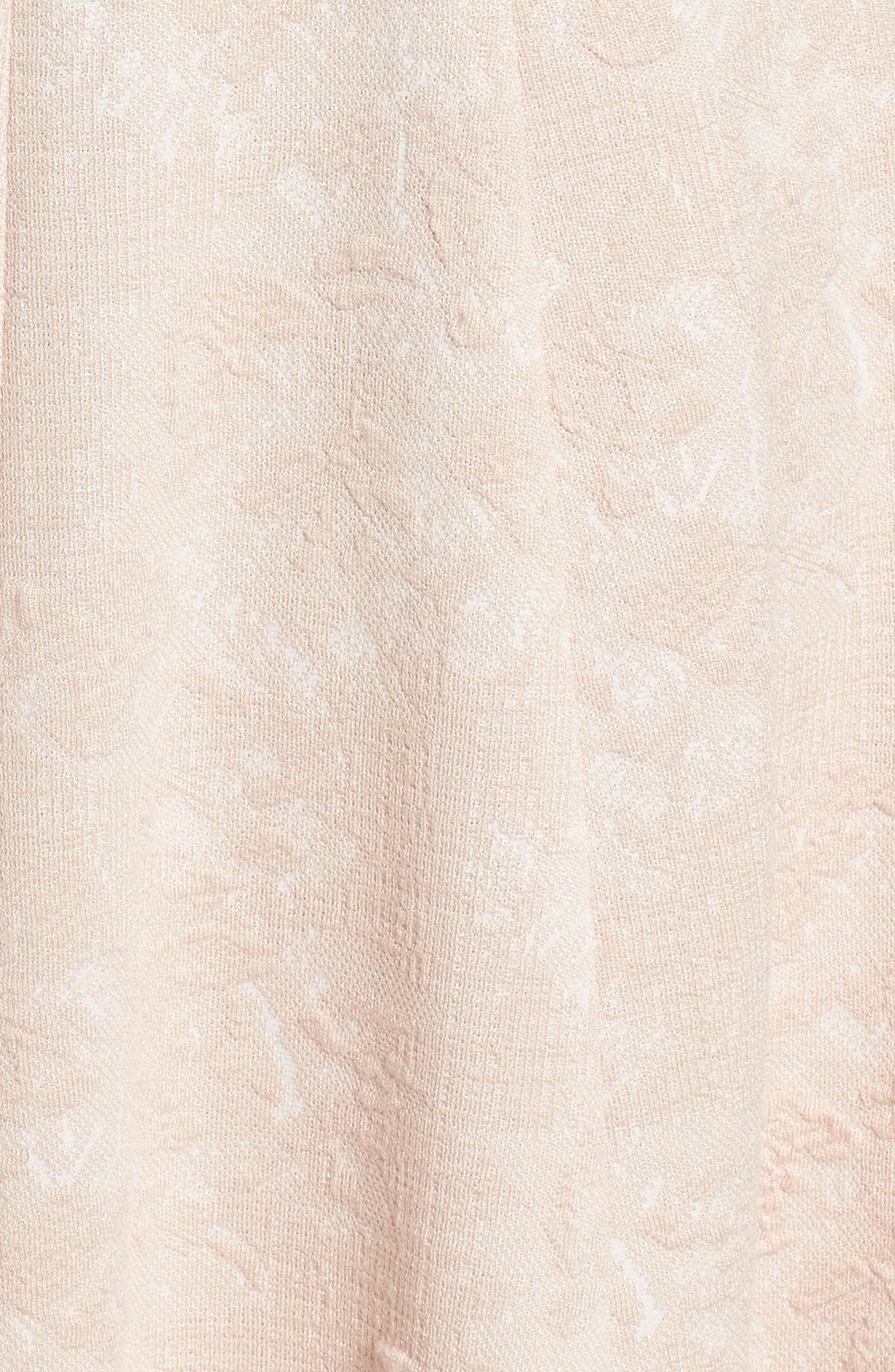 Jacquard Knit Fit & Flare Dress,                             Alternate thumbnail 6, color,                             Blush
