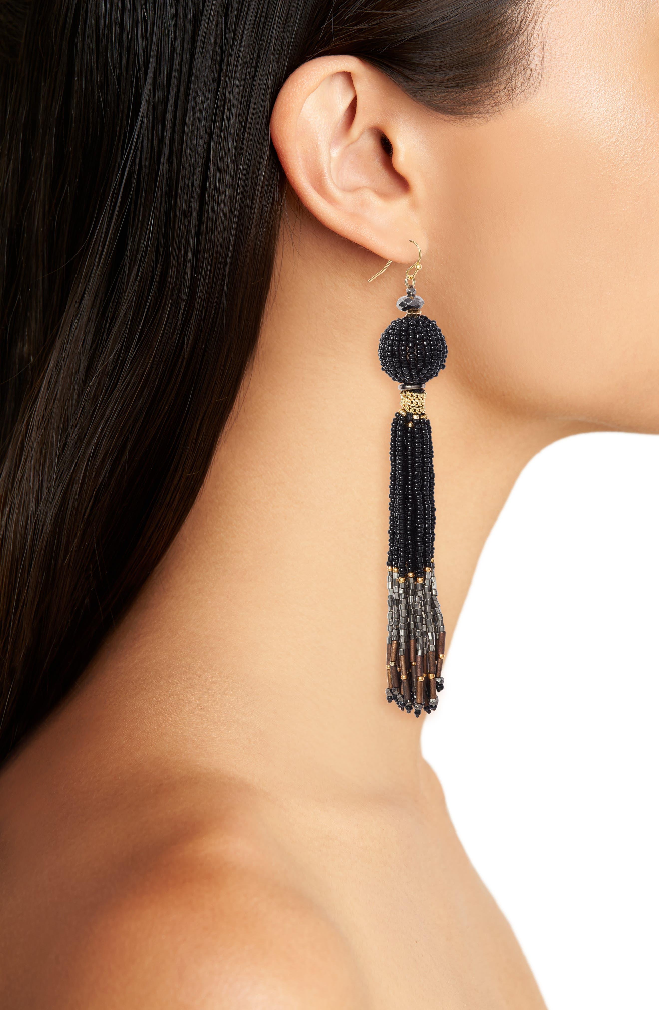Alternate Image 2  - Nakamol Design Beaded Tassel Earrings