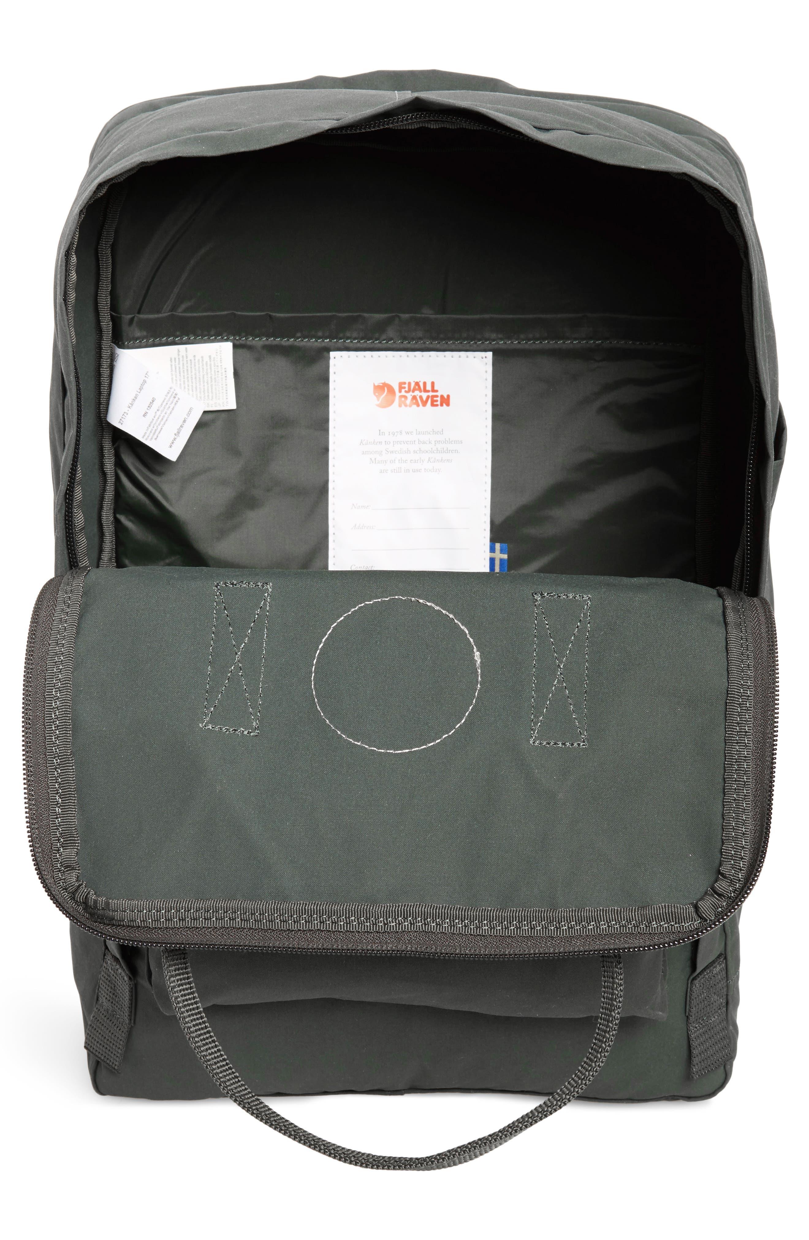 'Kånken' Laptop Backpack,                             Alternate thumbnail 4, color,                             Forest Green