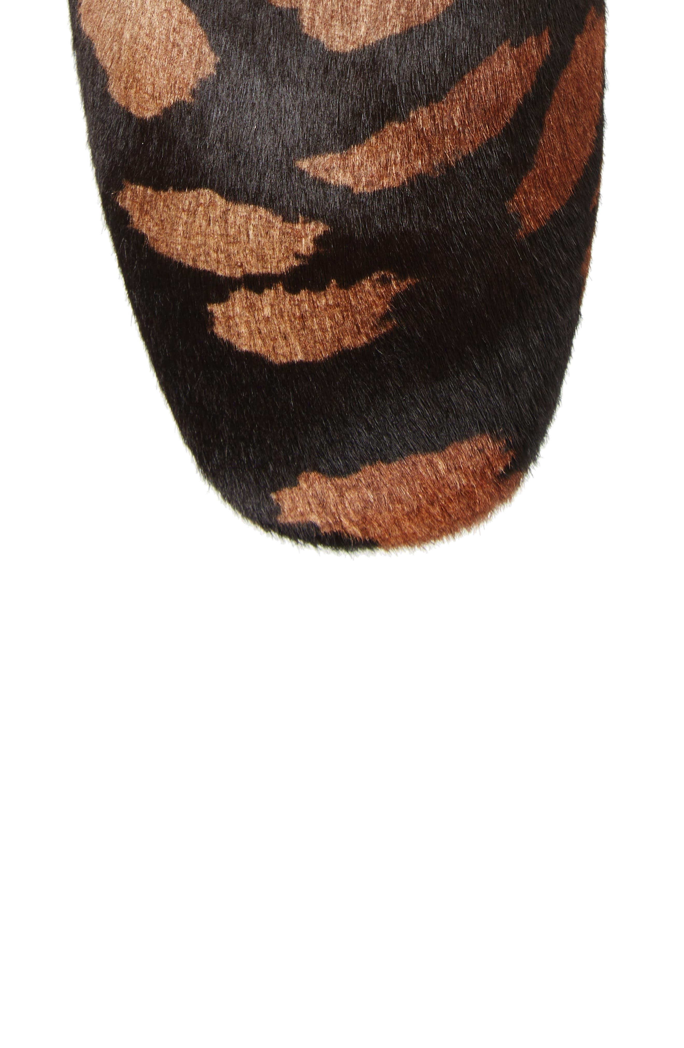 Leo Genuine Calf Hair Bootie,                             Alternate thumbnail 5, color,                             Black Calf Hair