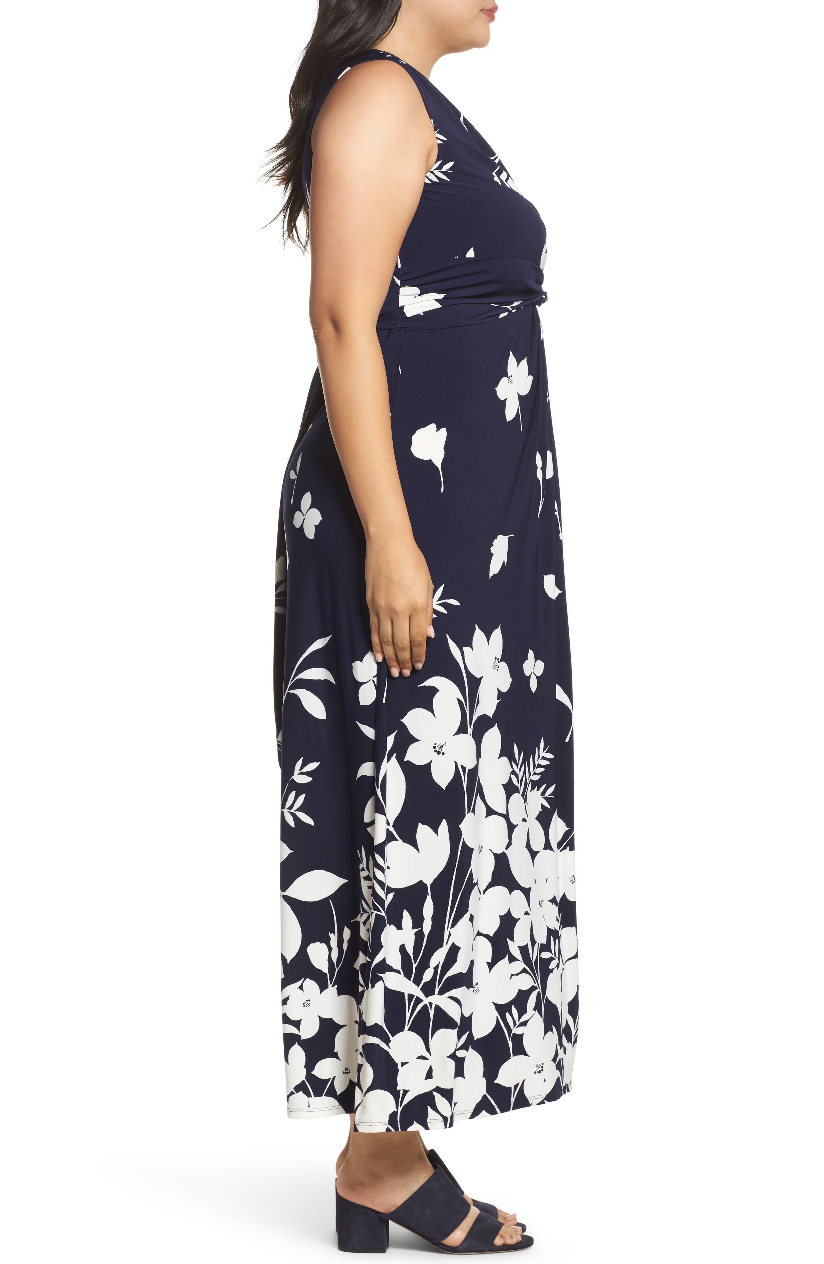 Alternate Image 3  - Eliza J Sleeveless Knot Detail Maxi Dress (Plus Size)