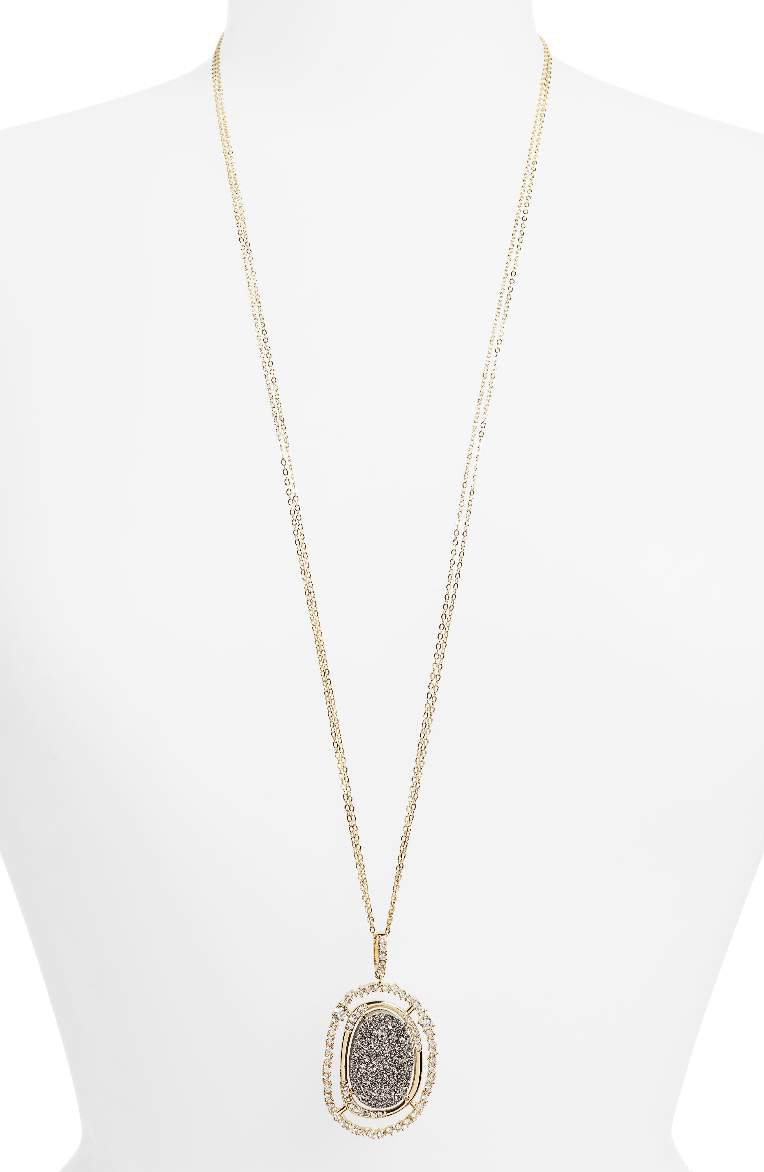 Melinda Maria Barrie Long Pendant Necklace