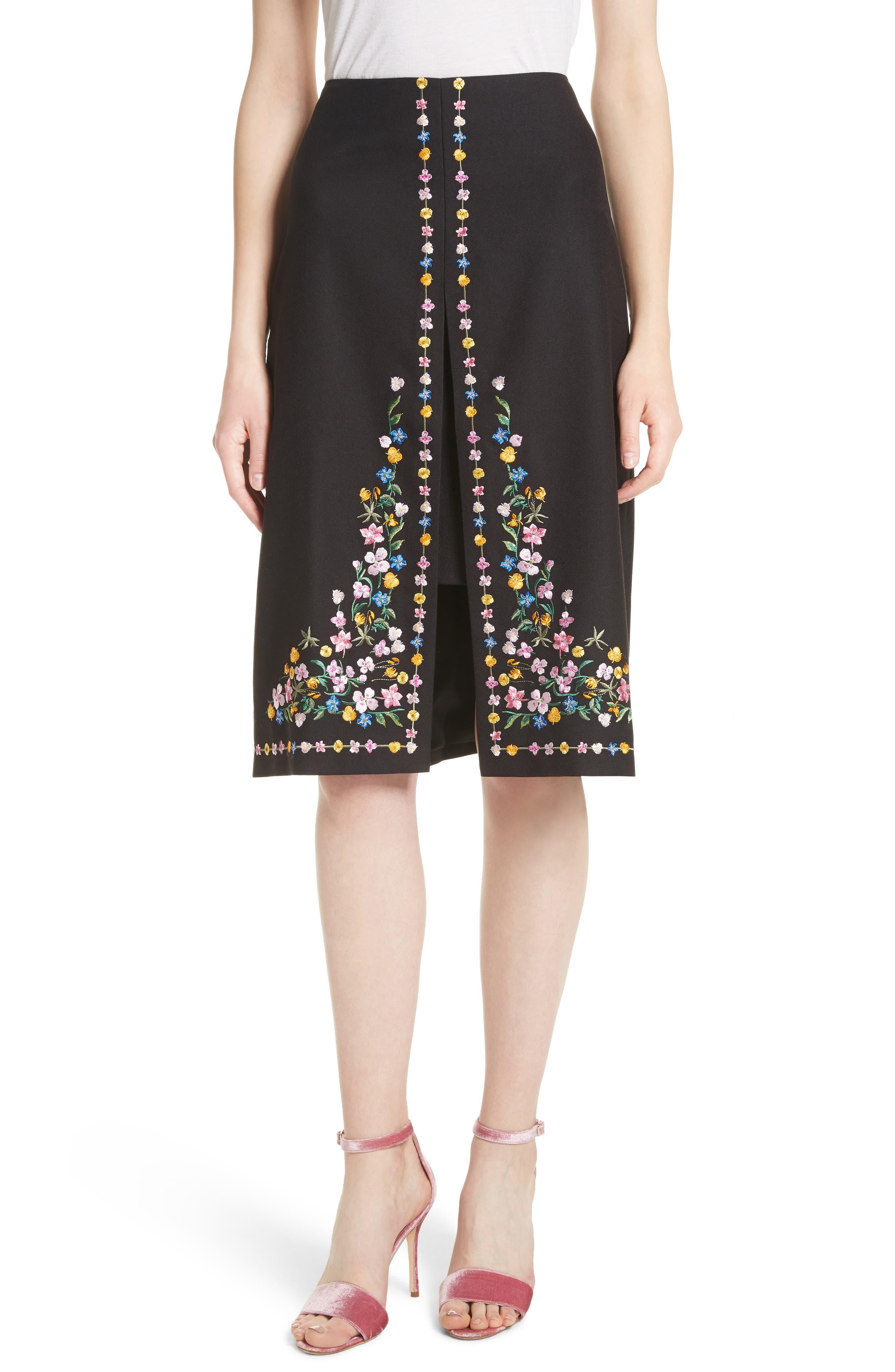 Ted Baker London Hampton Print A-Line Skirt