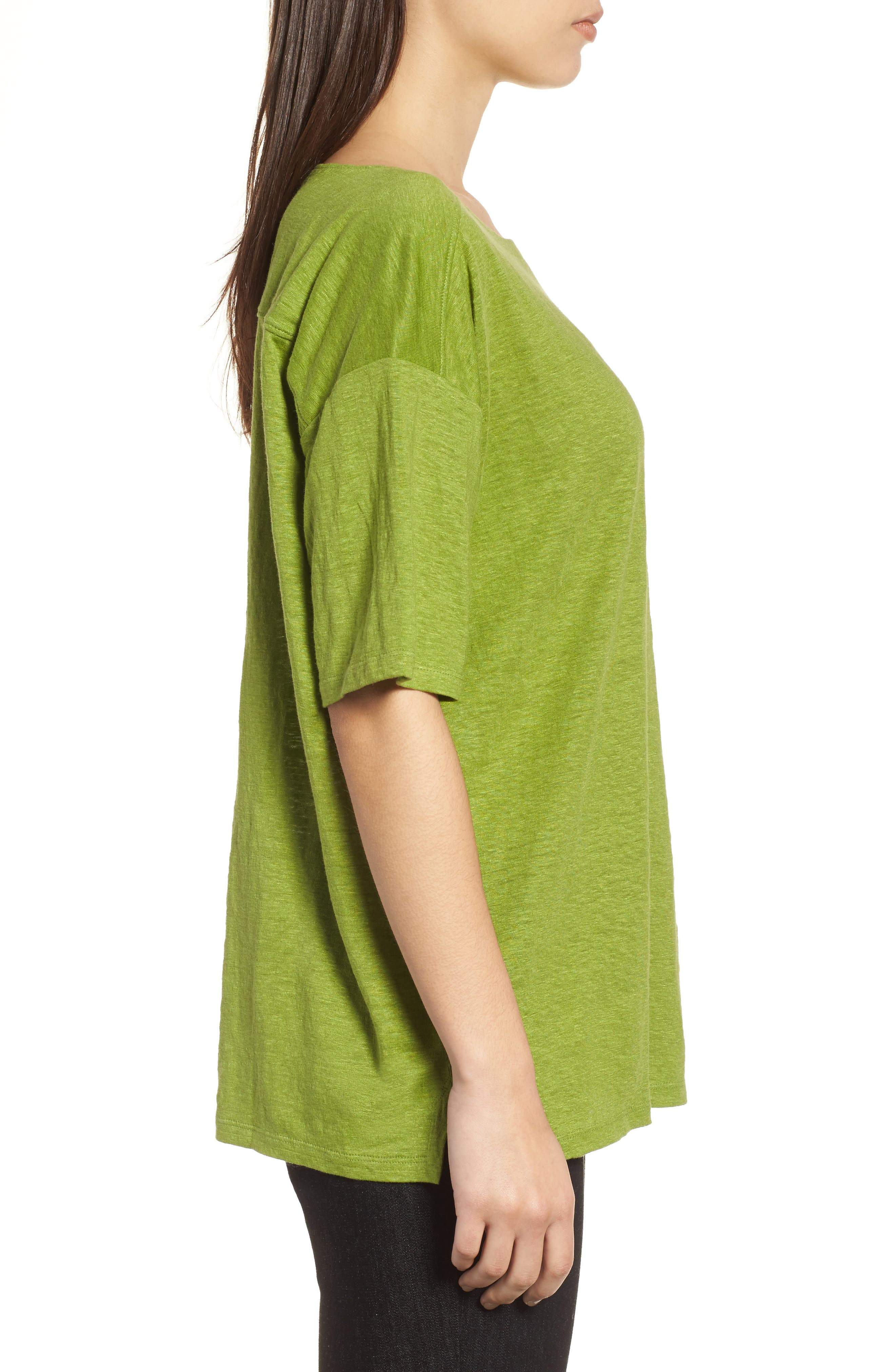Alternate Image 3  - Eileen Fisher Slouchy Organic Linen Top