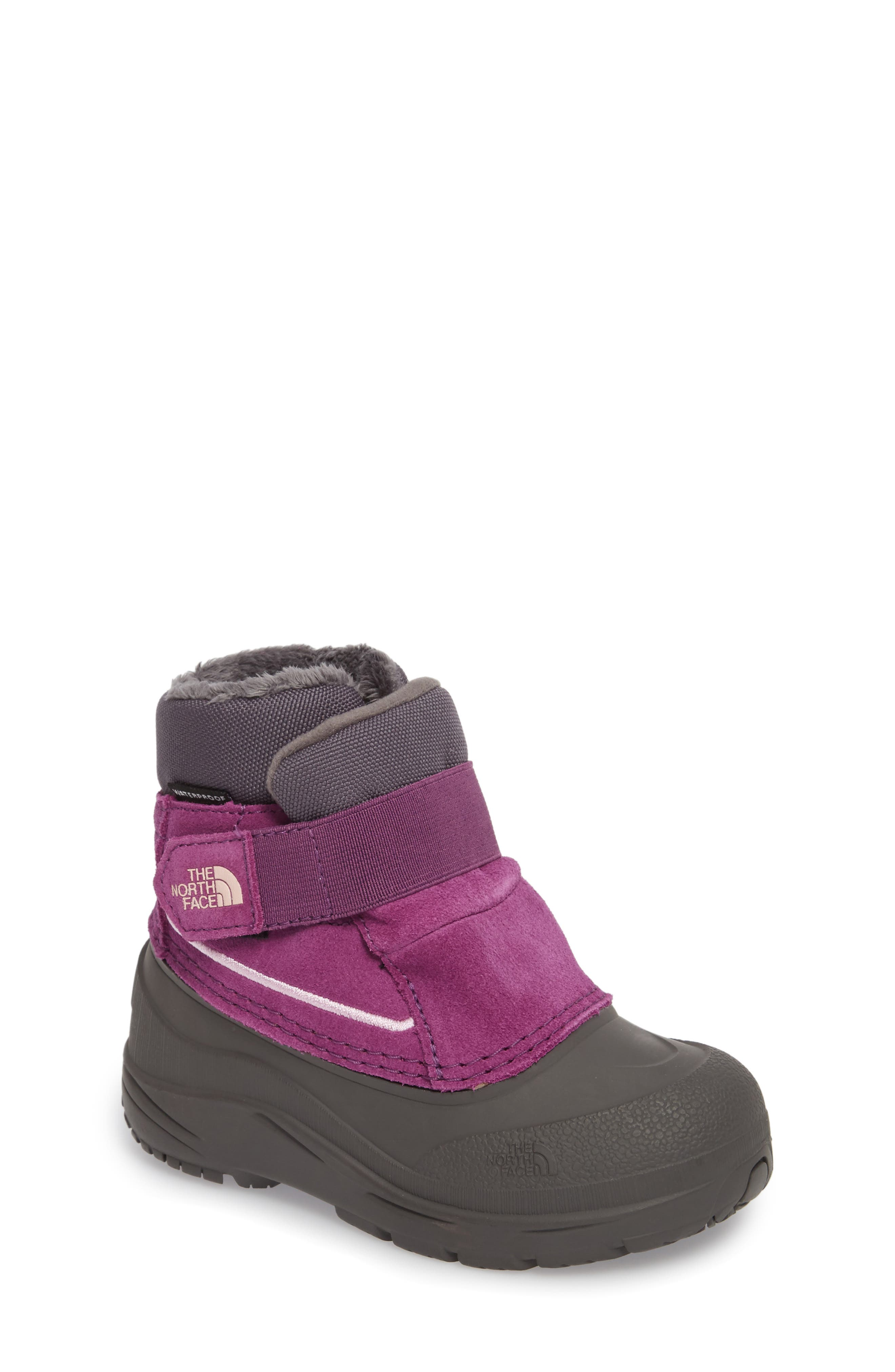 The North Face 'Alpenglow' Waterproof Boot (Walker & Toddler)