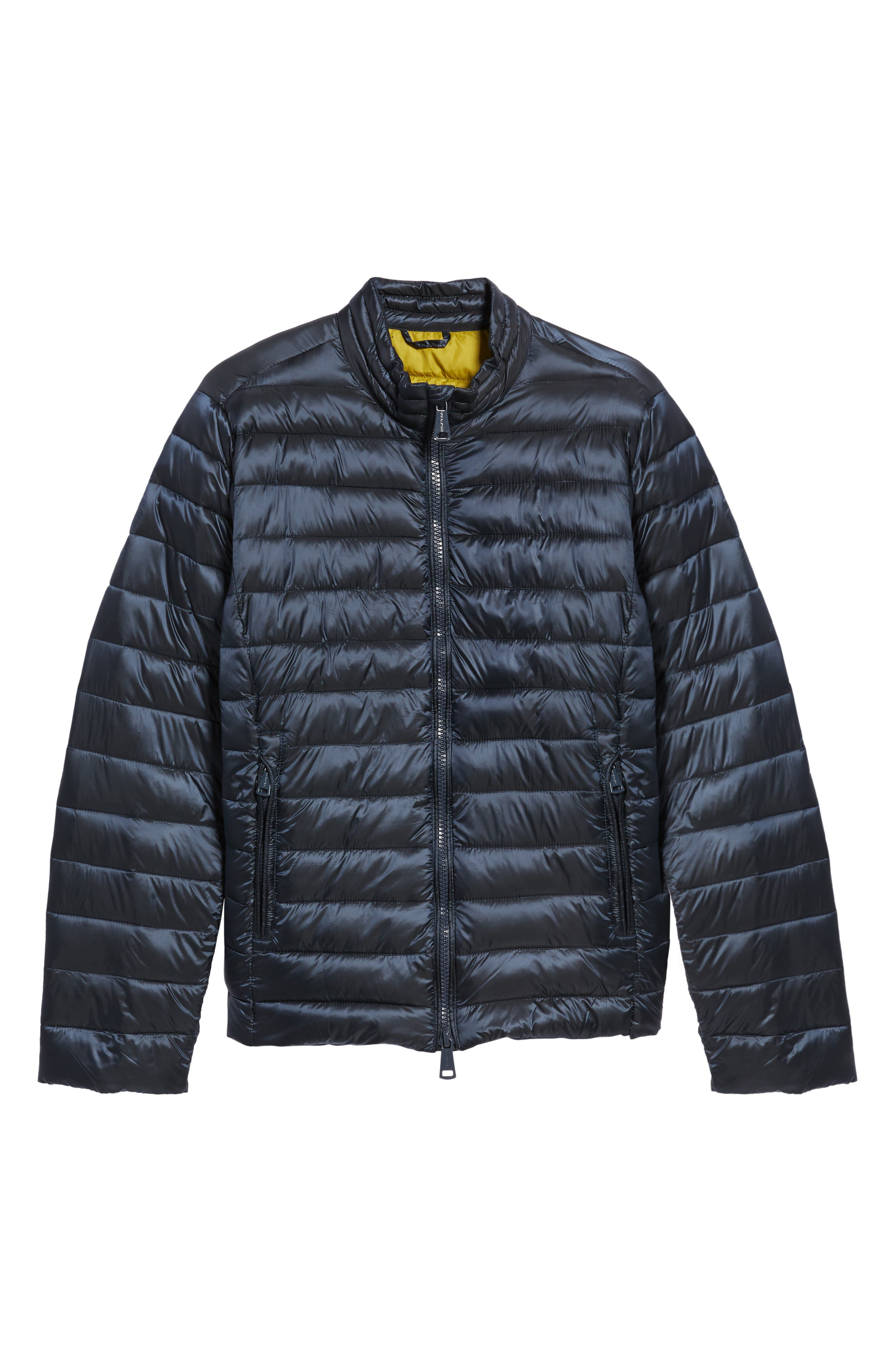 Channel Quilted Jacket,                             Alternate thumbnail 6, color,                             Navy