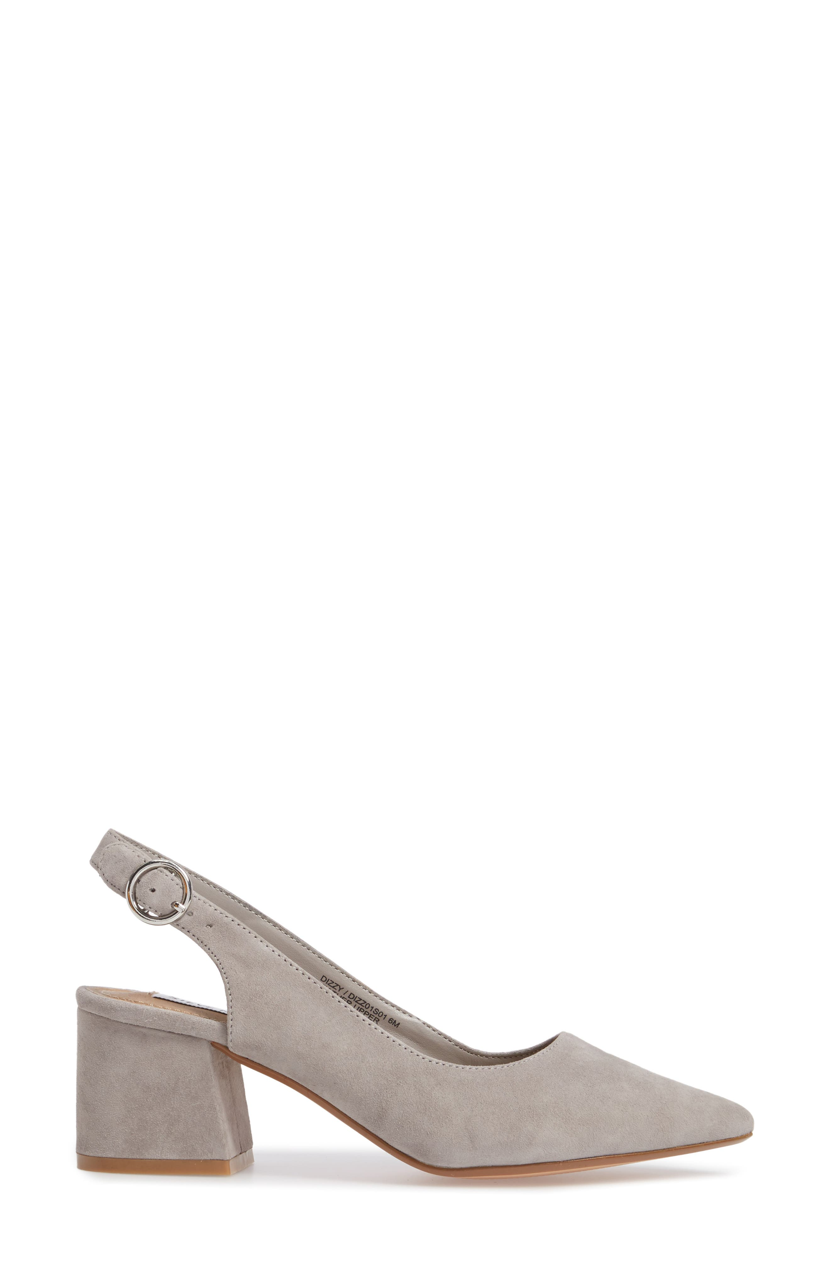Dizzy Slingback Pump,                             Alternate thumbnail 3, color,                             Grey Suede