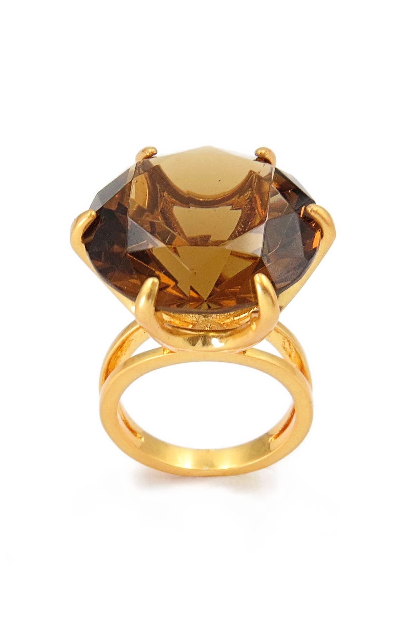 Smoky Cocktail Ring,                             Alternate thumbnail 2, color,                             Gold