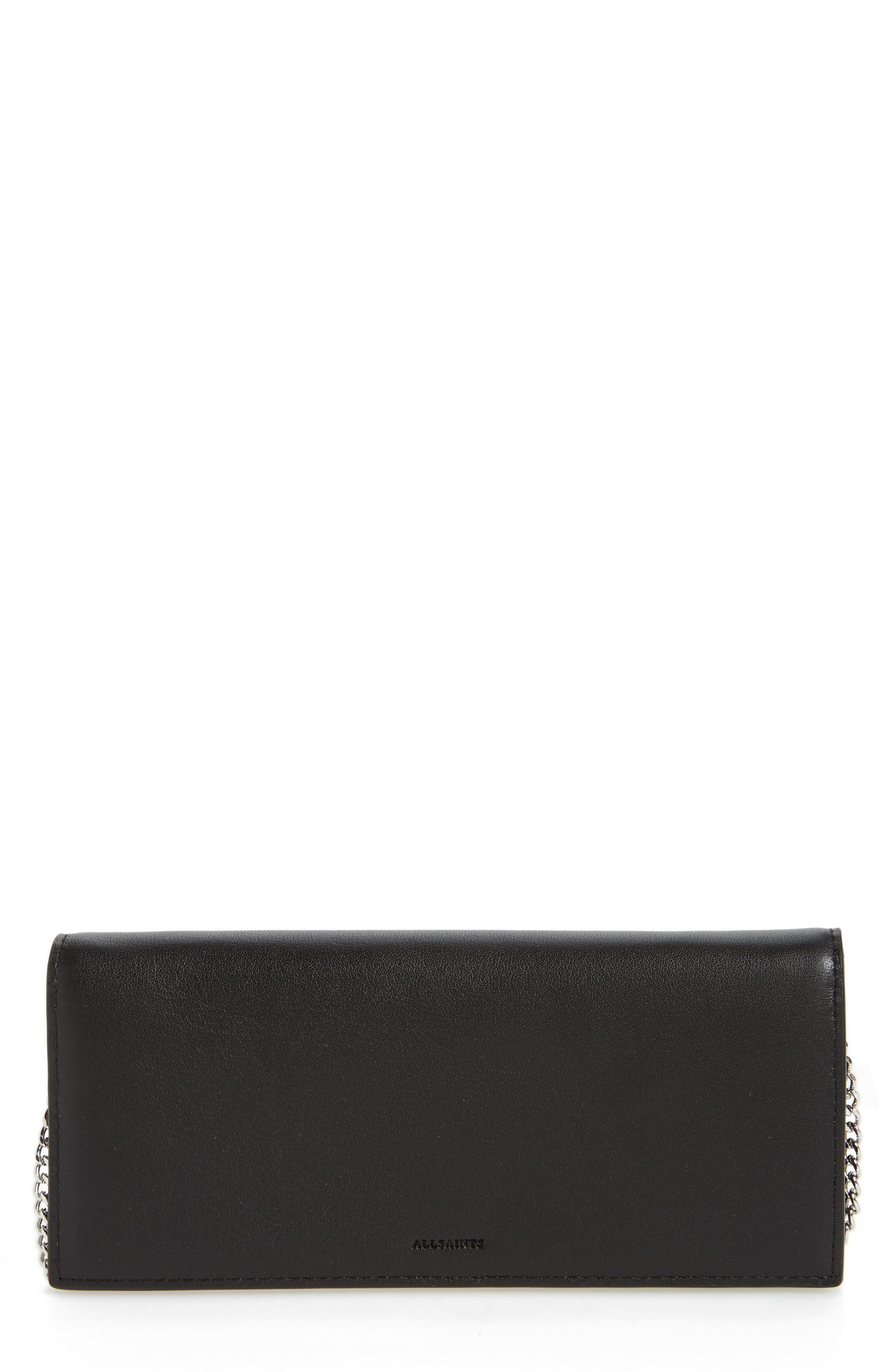 Keel Leather Wallet,                         Main,                         color, Black