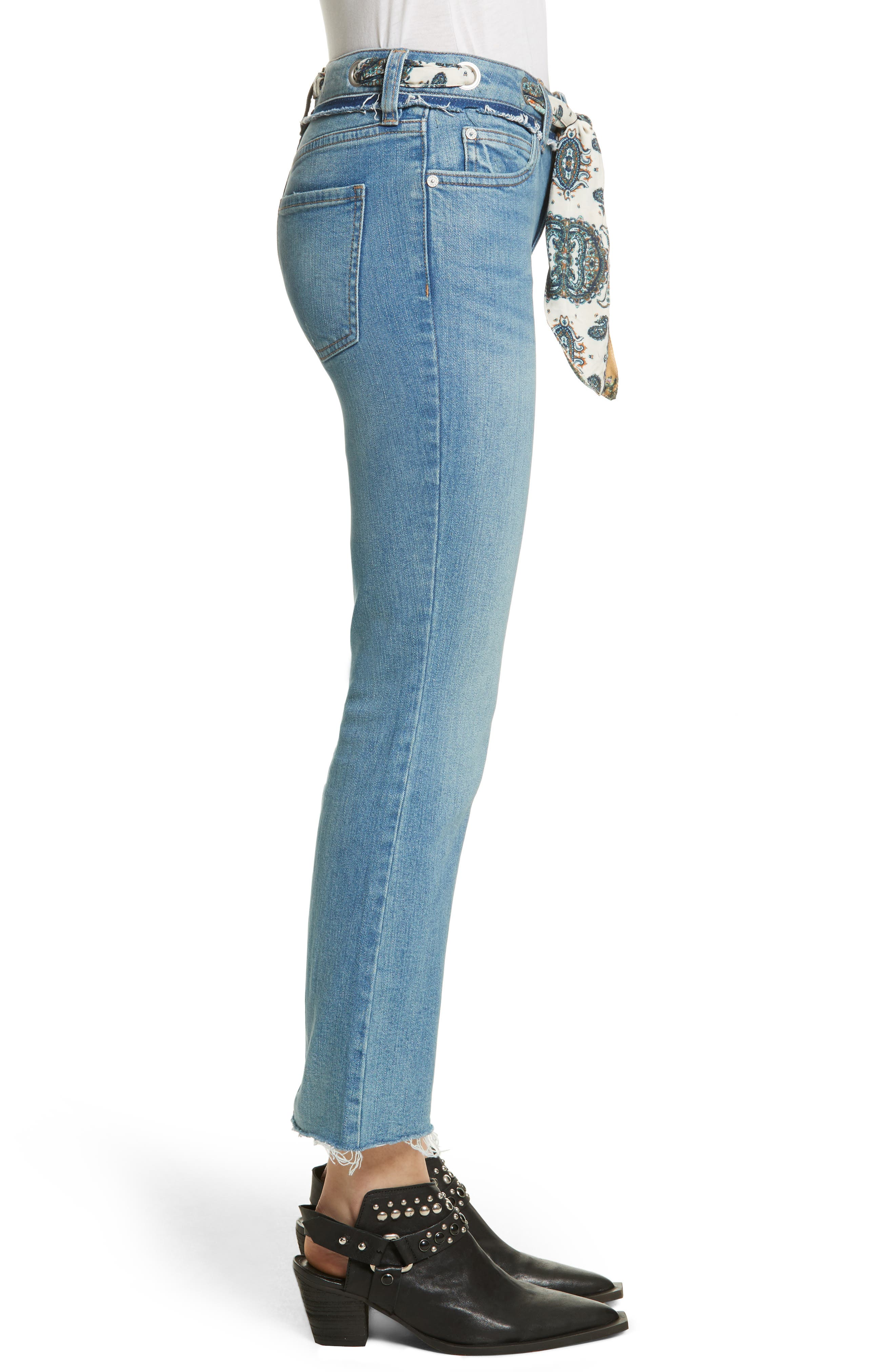 Alternate Image 3  - Free People Belt Out High Waist Crop Bootcut Jeans