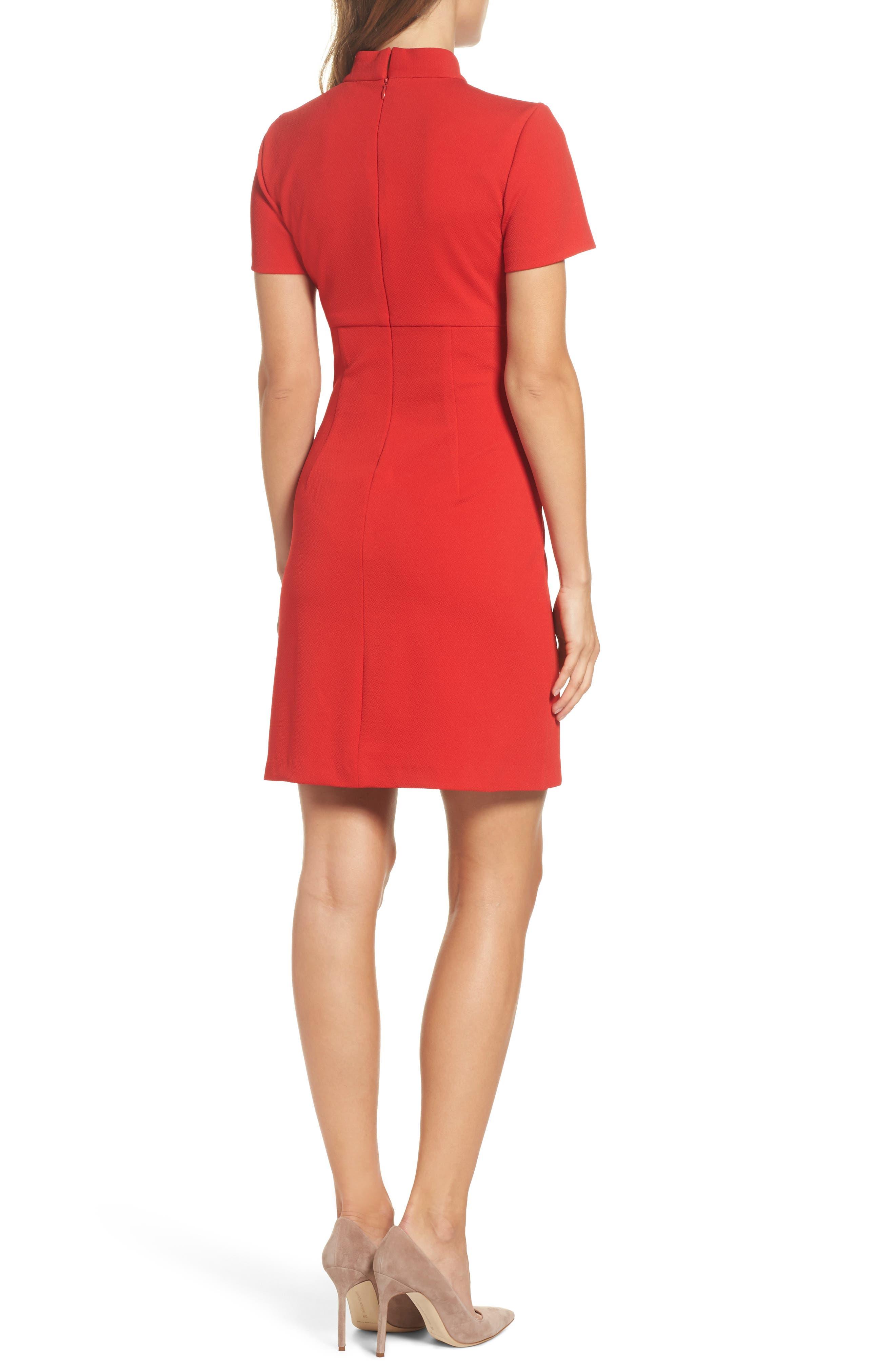 Camari Choker Collar Sheath Dress,                             Alternate thumbnail 2, color,                             Pagoda Red