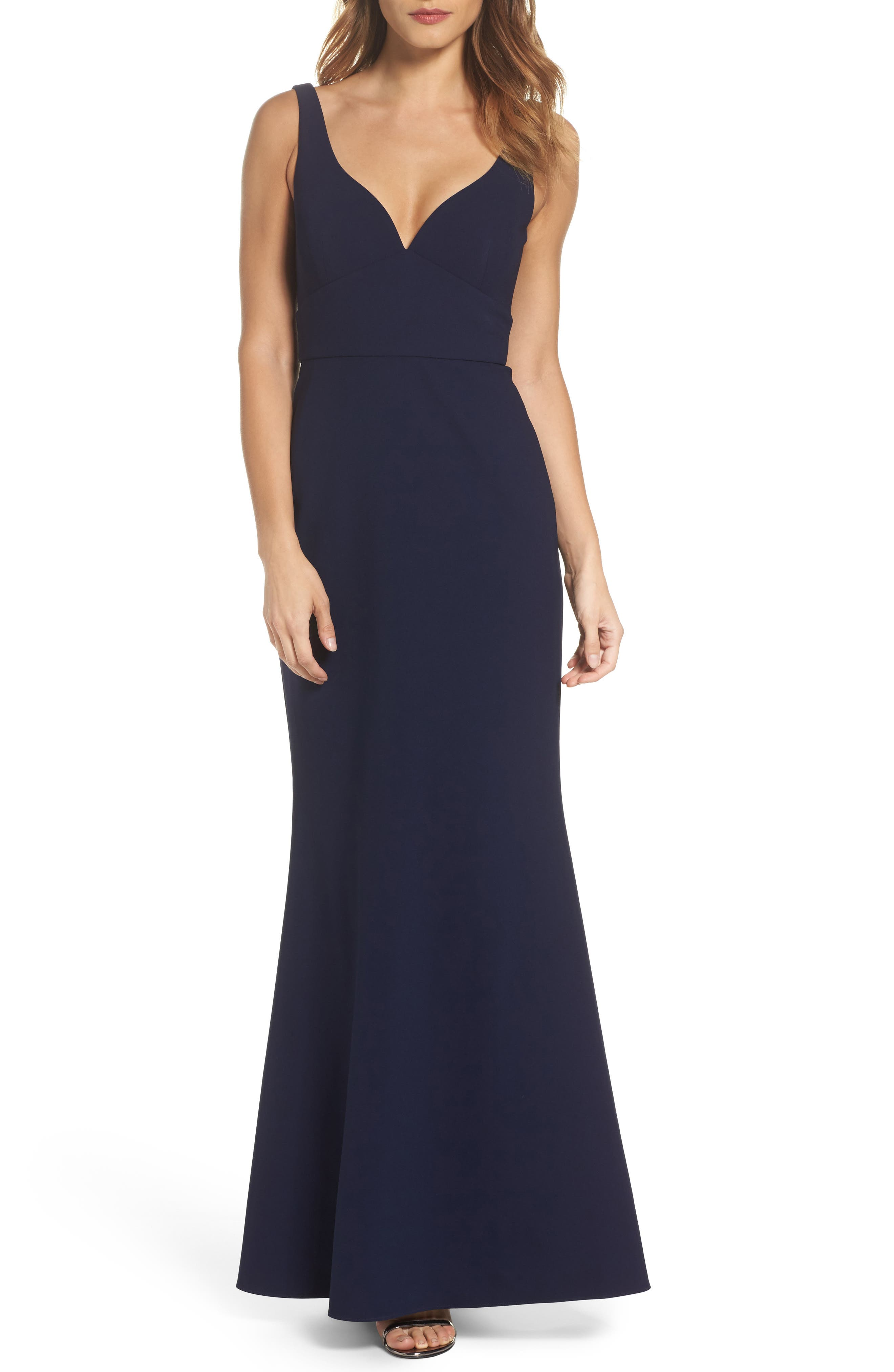 Gown,                             Main thumbnail 1, color,                             Midnight Blue