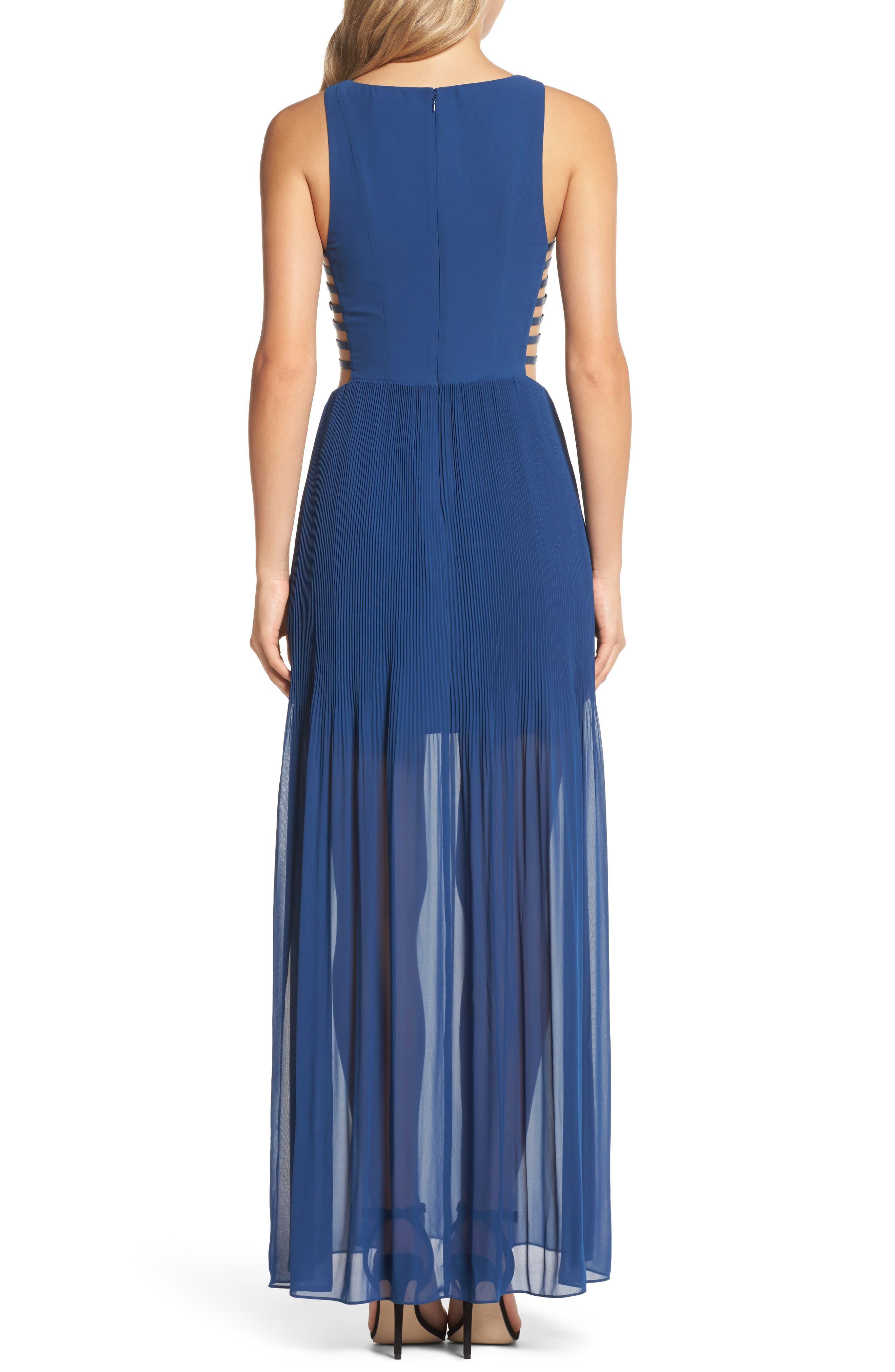 Sunset Blvd Maxi Dress,                             Alternate thumbnail 3, color,                             French Blue