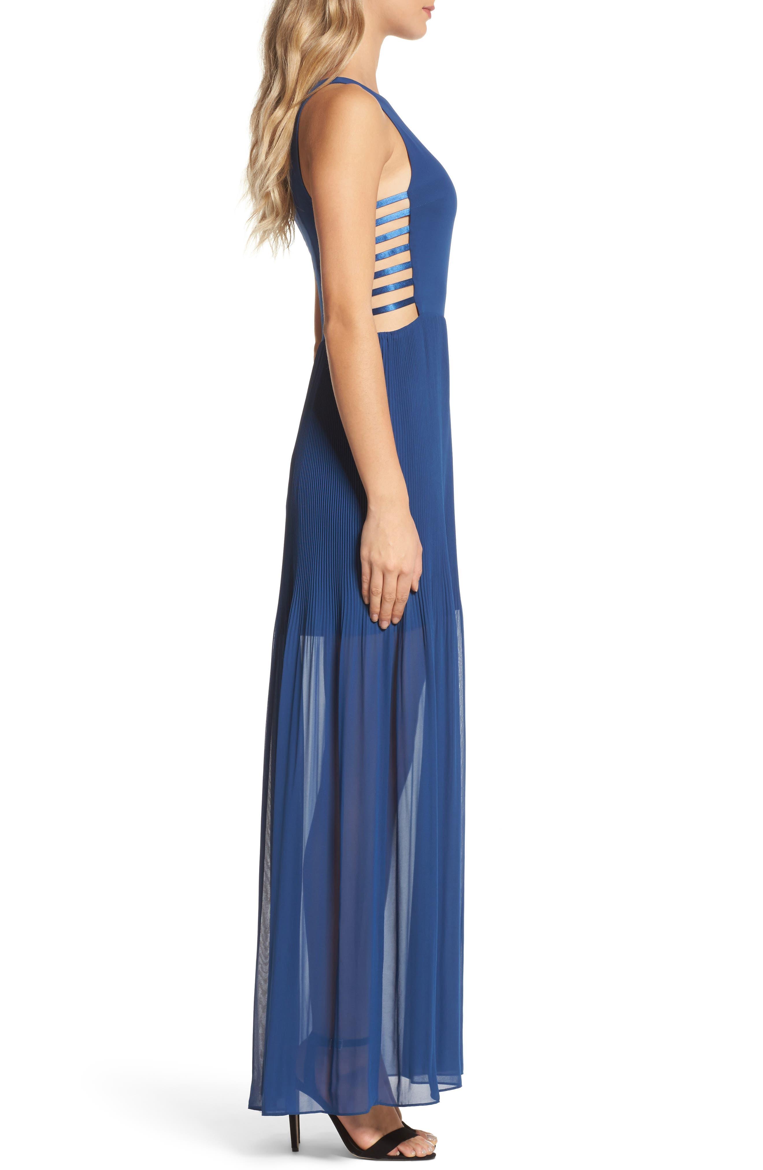 Sunset Blvd Maxi Dress,                             Alternate thumbnail 4, color,                             French Blue