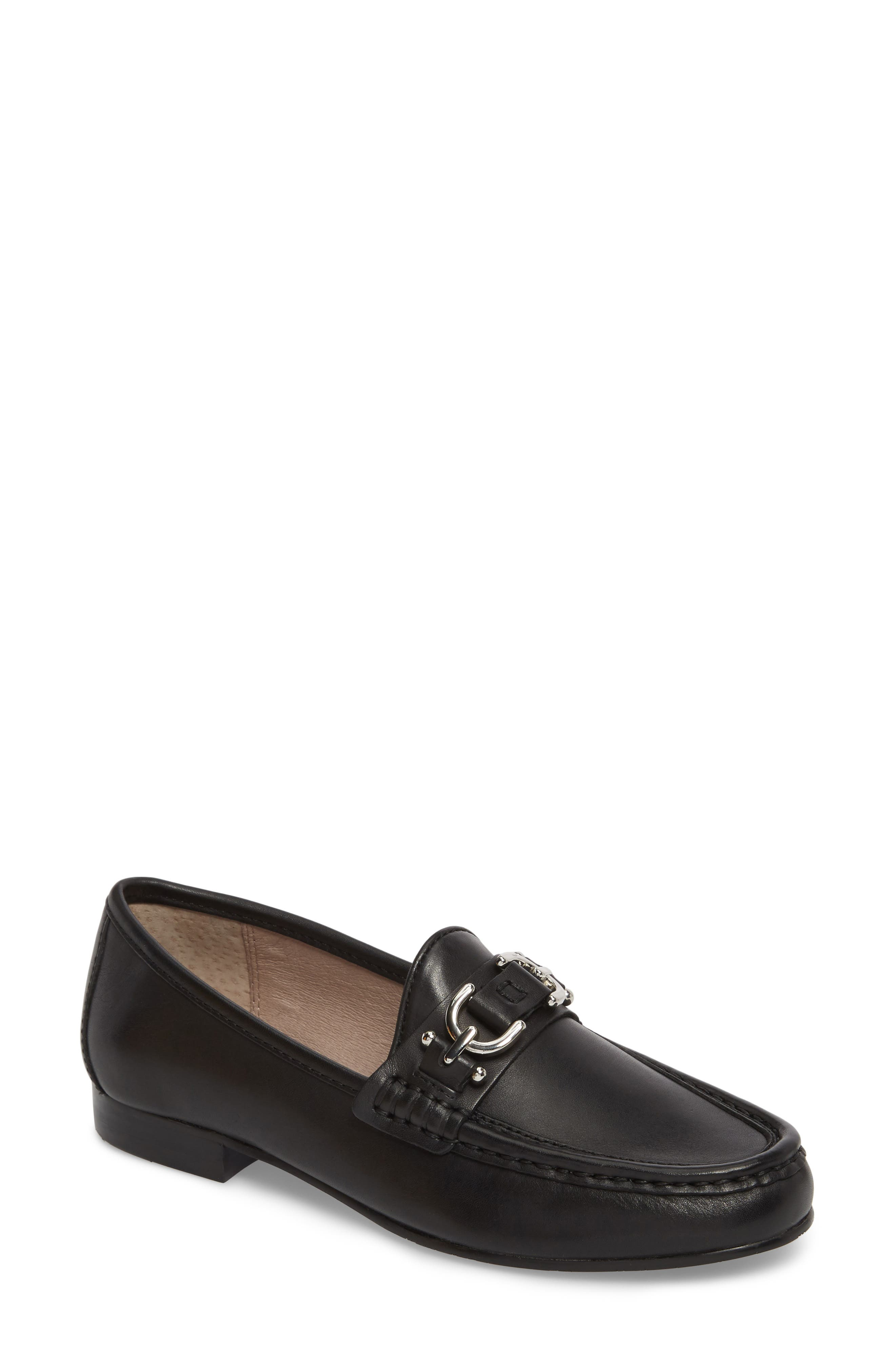Suzy Loafer,                         Main,                         color, Black Leather