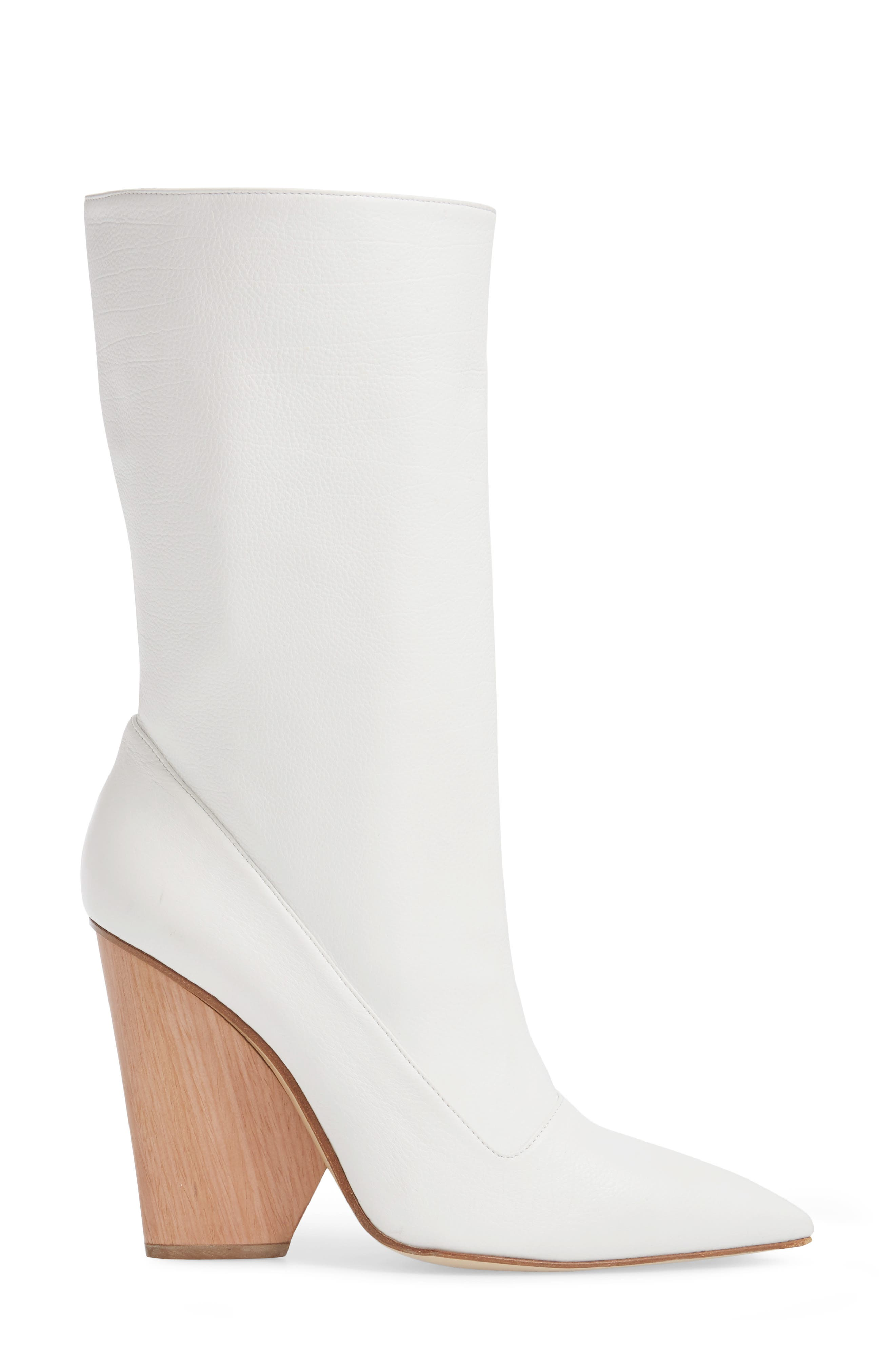 Judd Pointy Toe Boot,                             Alternate thumbnail 3, color,                             White