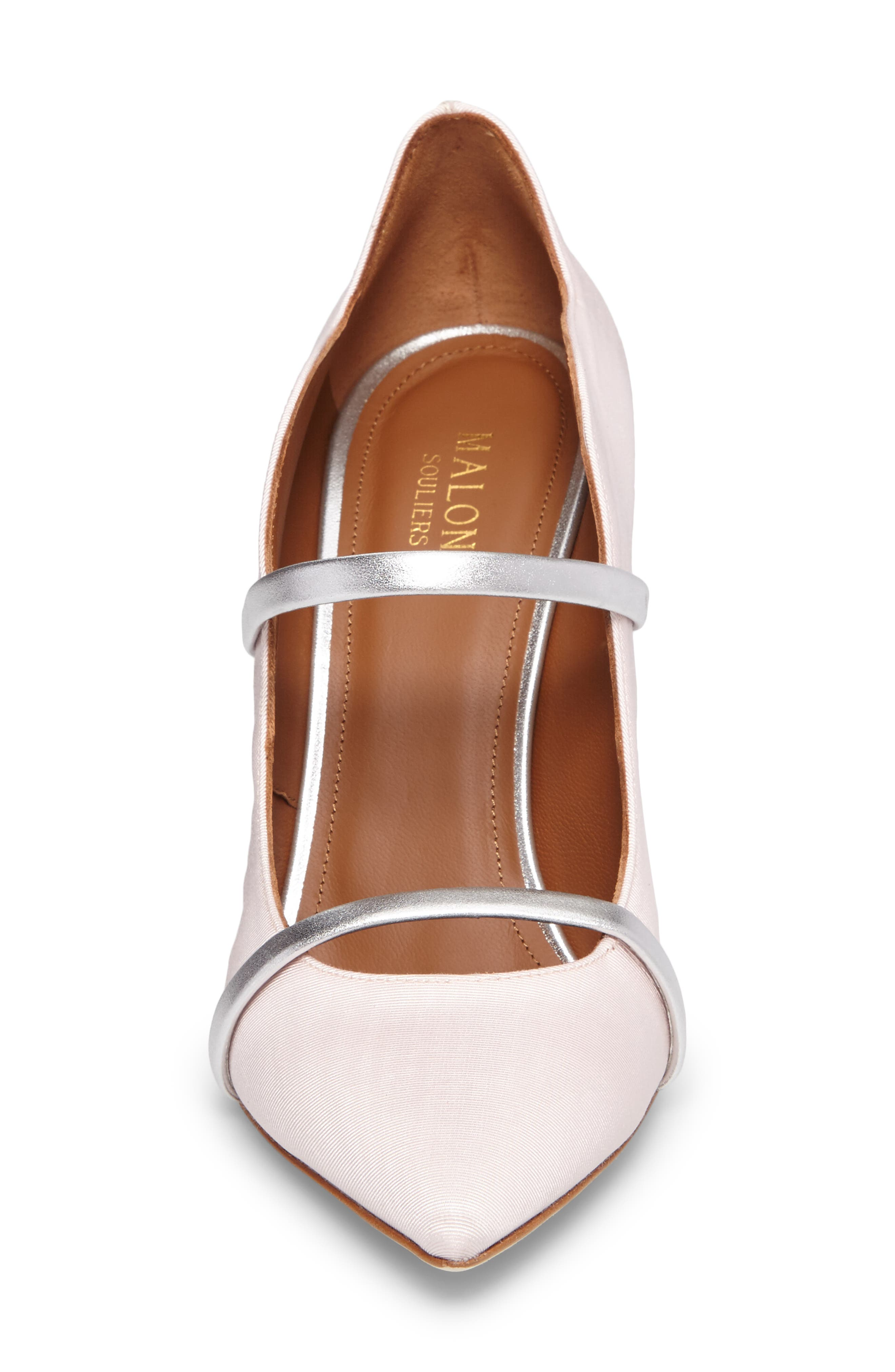 Maureen Double Band Pump,                             Alternate thumbnail 4, color,                             Rose/ Silver